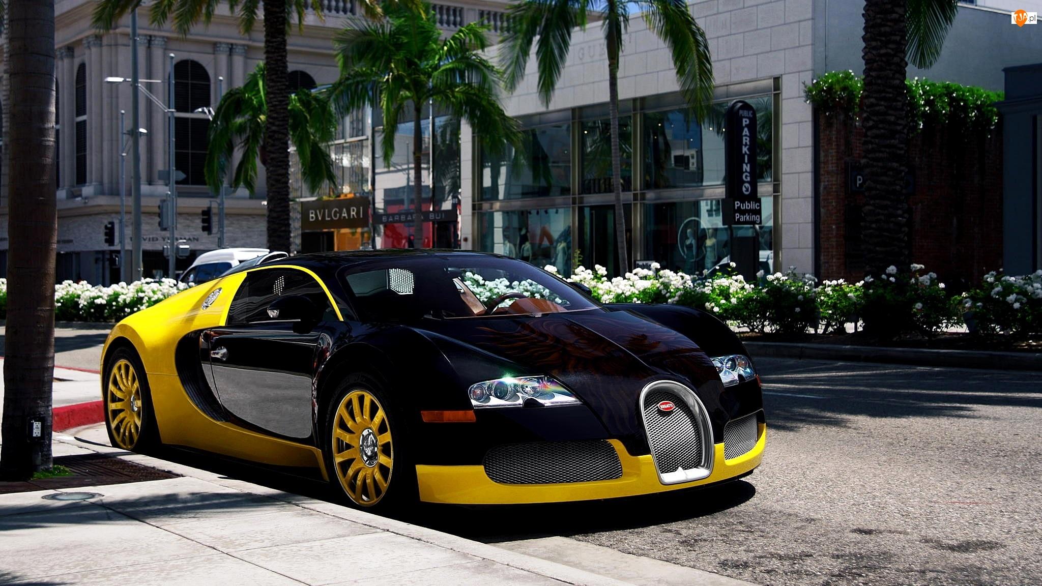Grafitowo Żółty, Ulica, Bugatti Veyron, Miasto