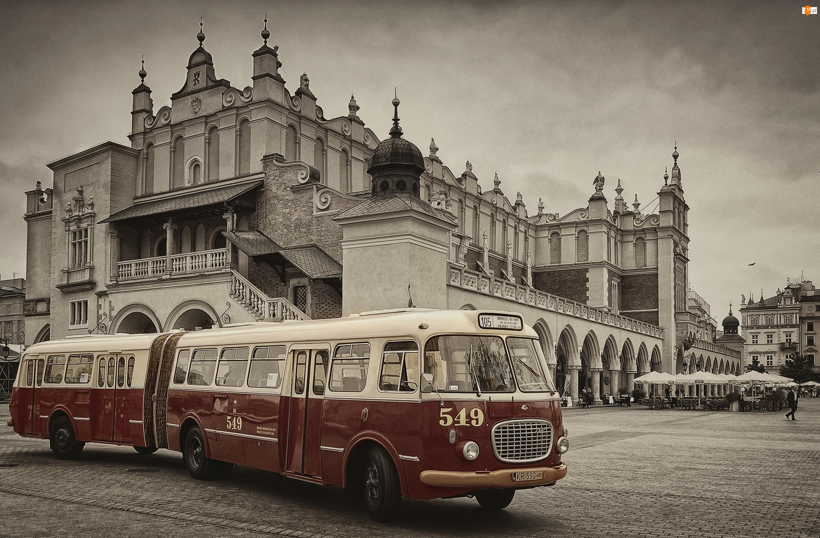 Kraków, Autobus, Ogórek, Jelcz, Sukiennice