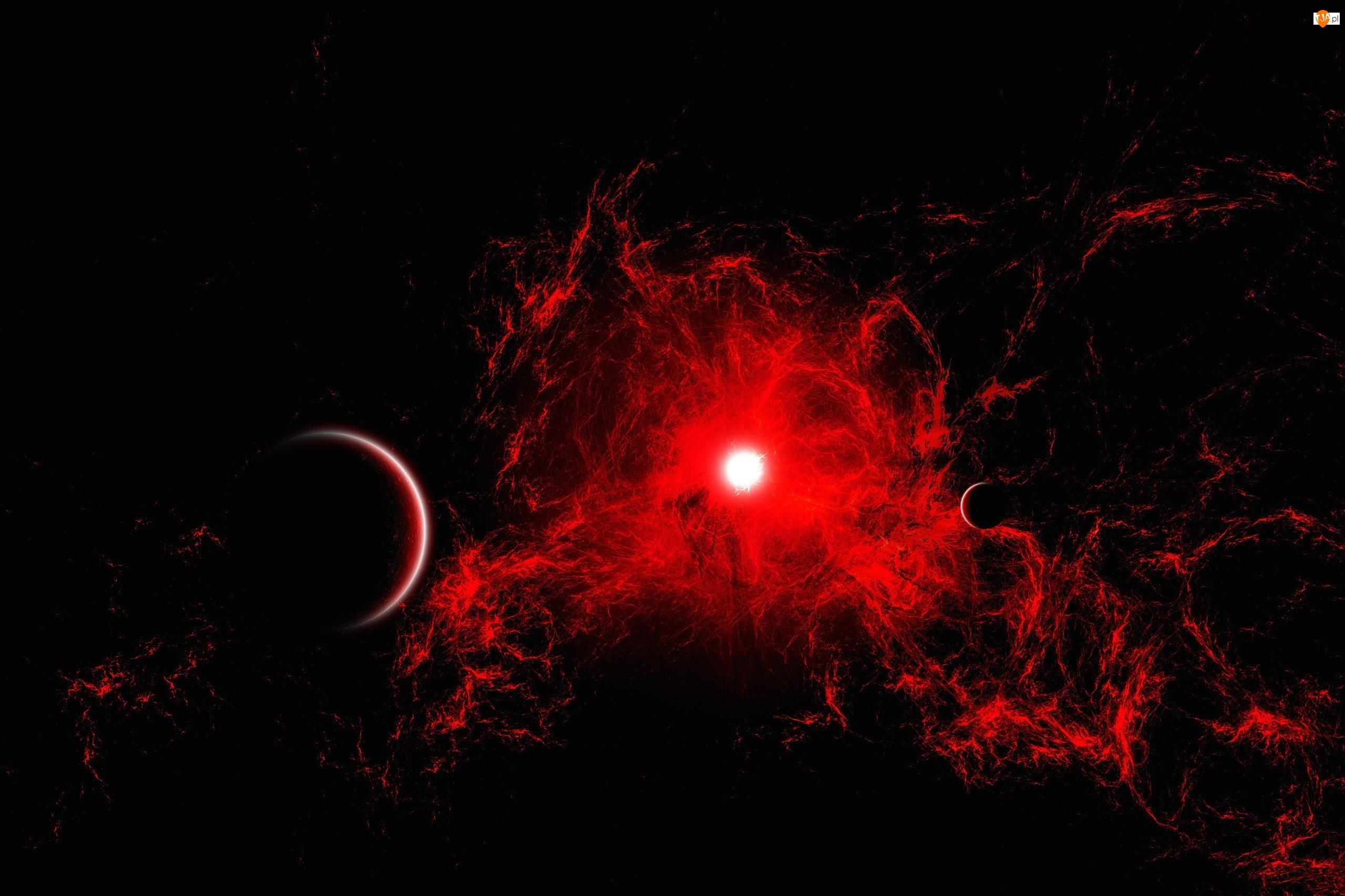 Kosmos, Mgławica, Planety, Czerwona