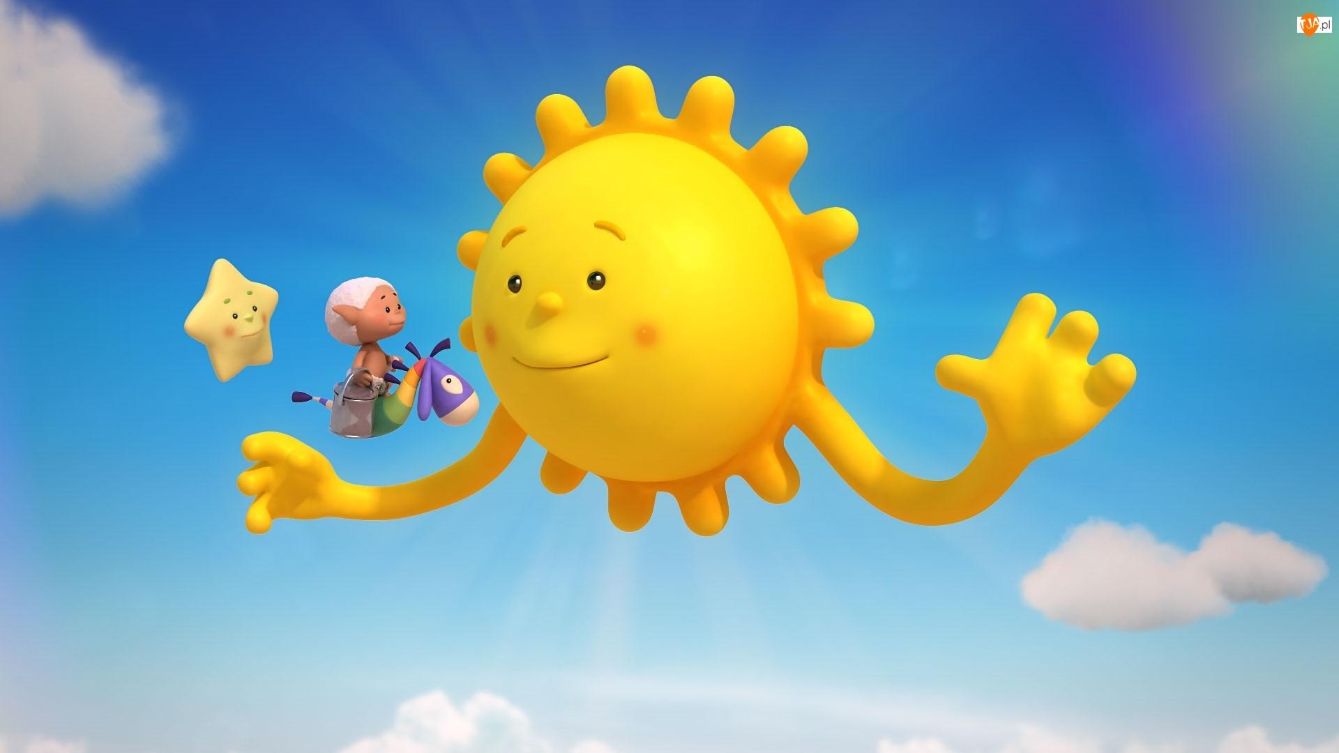 Gwiazdka, Bajka, Chmurkowe opowieści, Serial, Słońce