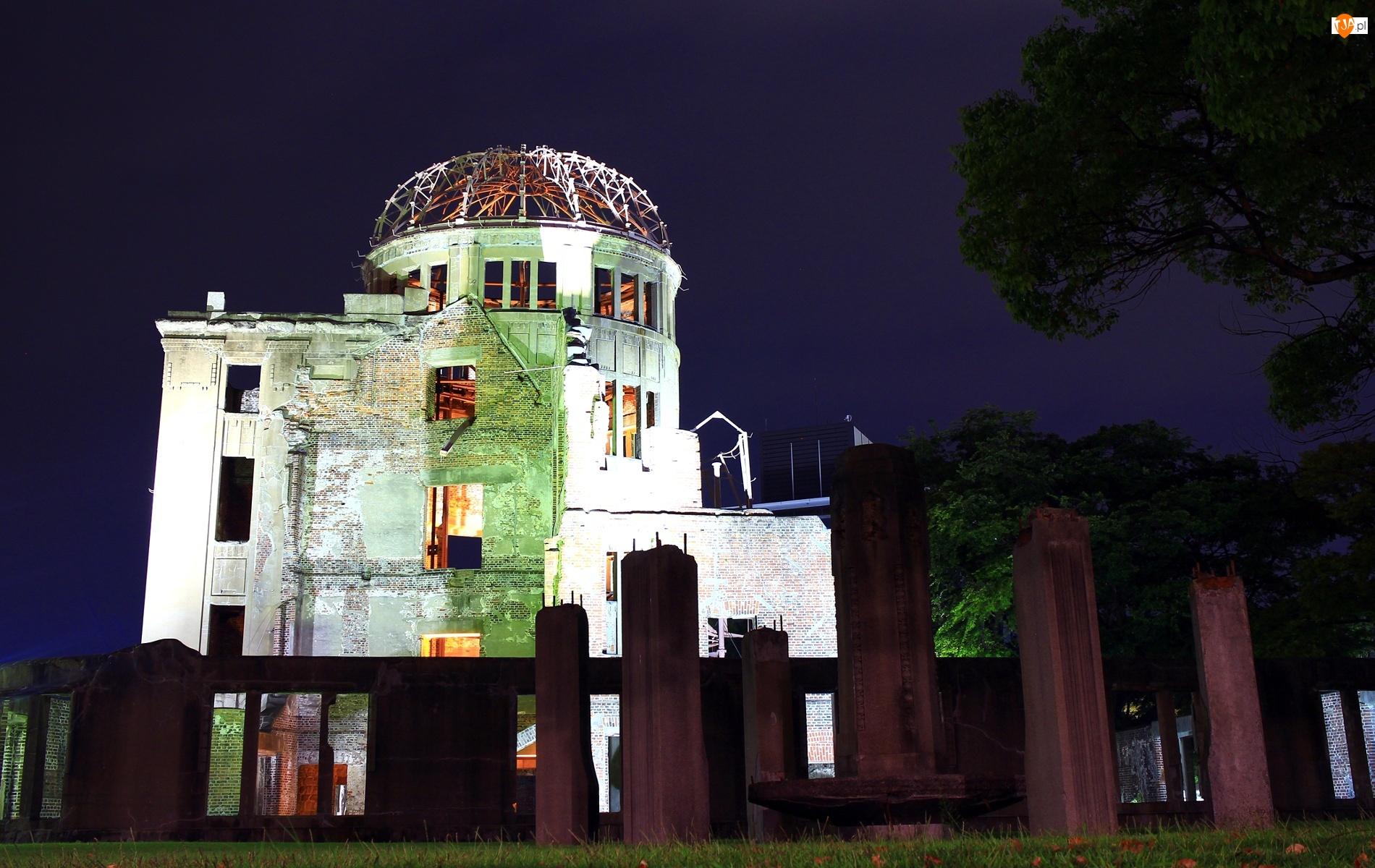 Japonia, Kopuła, Atomowej, Bomby, Hiroszima