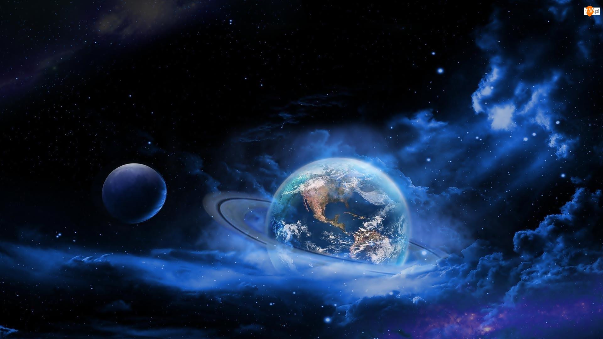 Planety, Fantasy, Gwiazdy, Kosmos