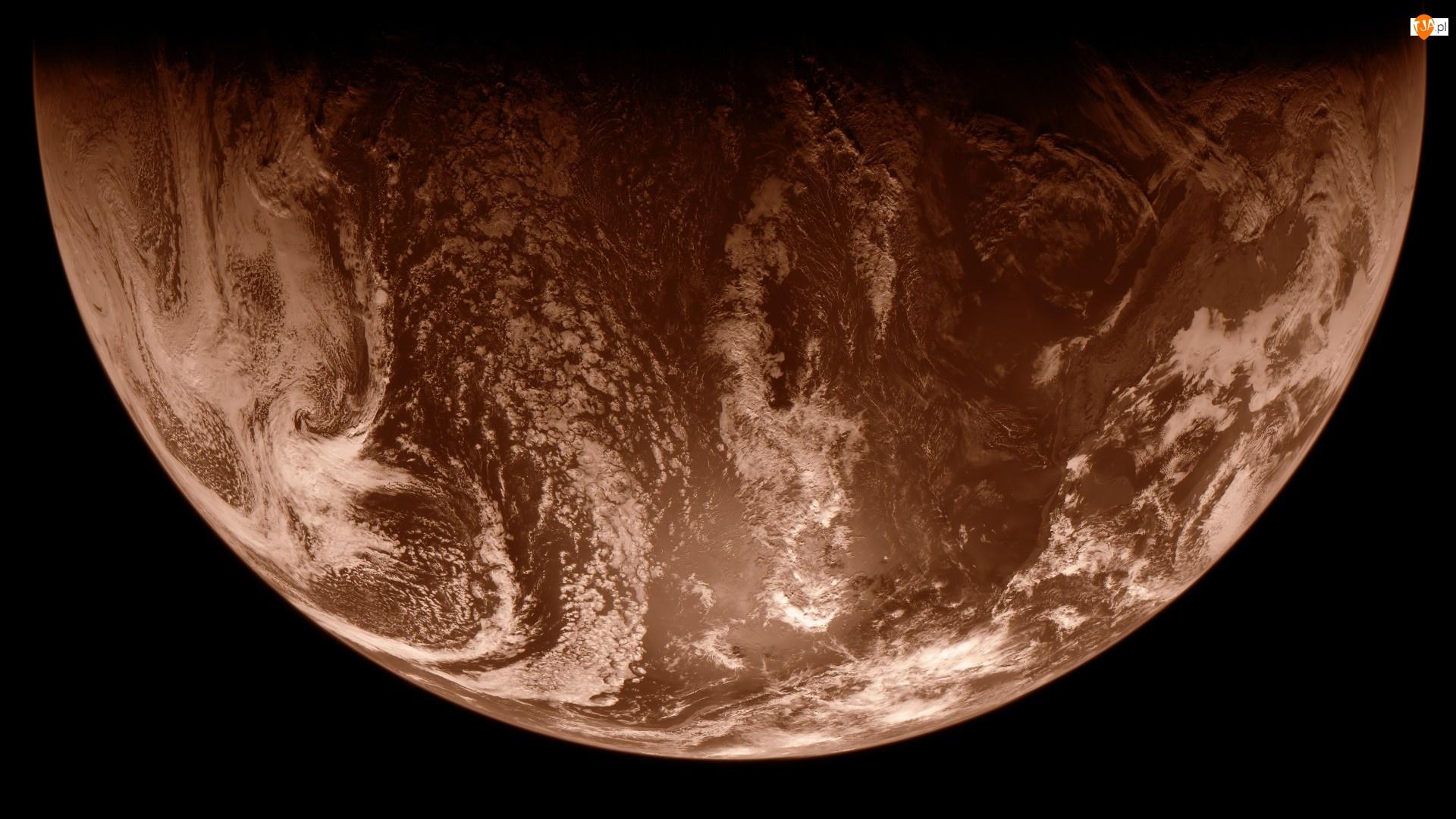 Kosmos, Sepia, Planeta, Ziemia