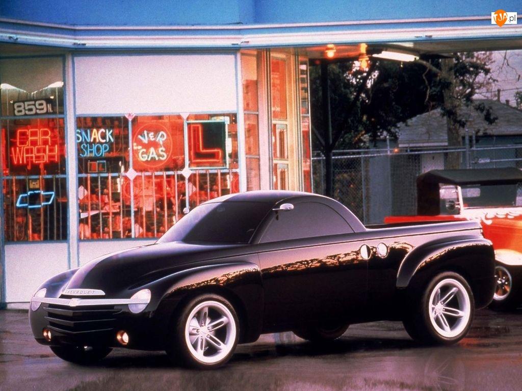 Pickup, Czarny, Chevrolet