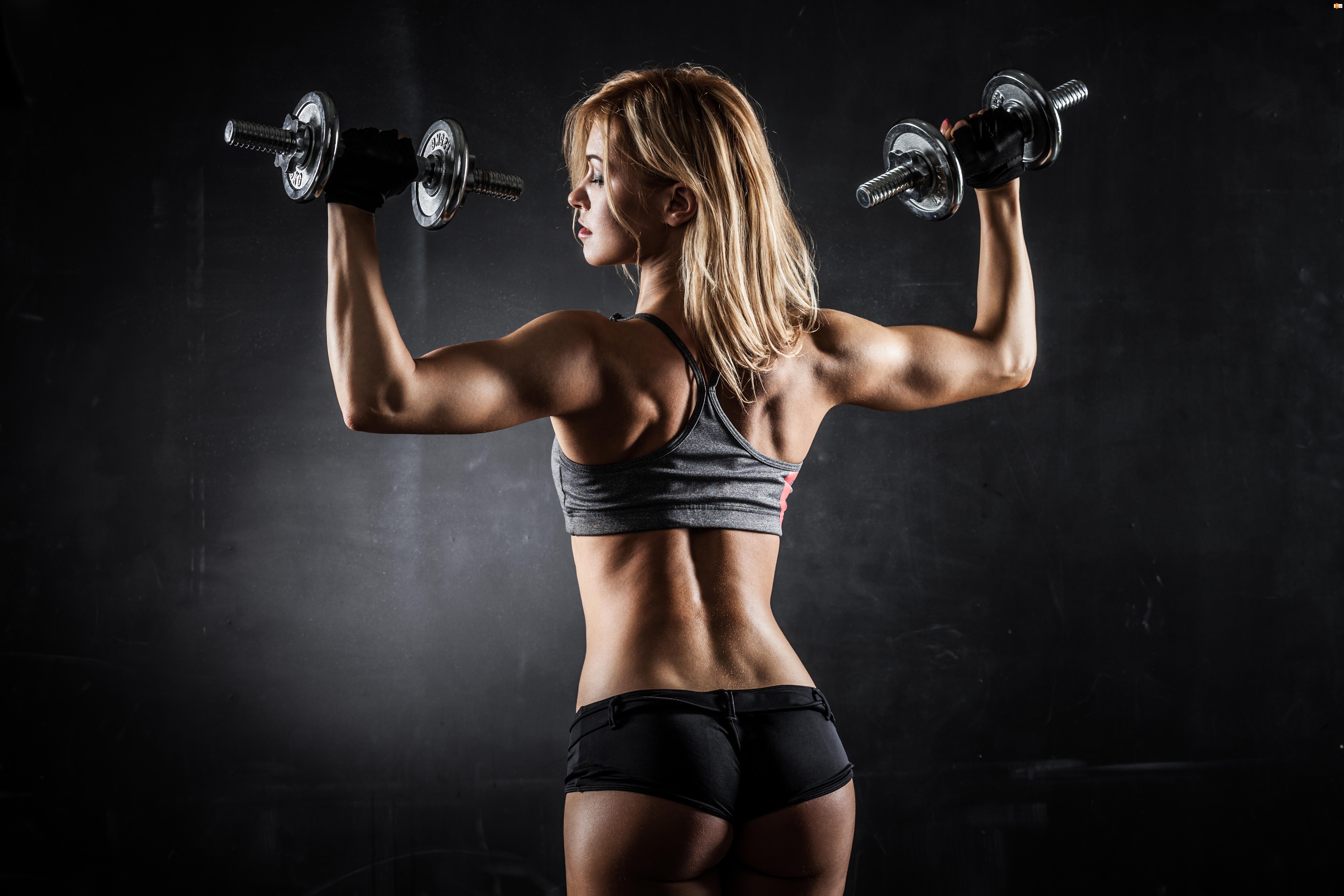 Kobieta, Ciężarki, Fitness, Sylwetka
