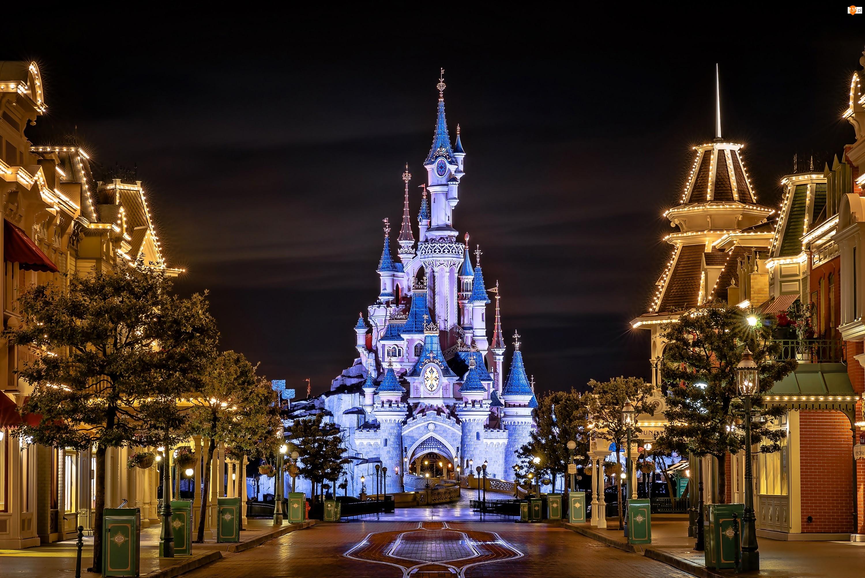 Kalifornia, Zamek, Uliczka, Disneyland, Domy