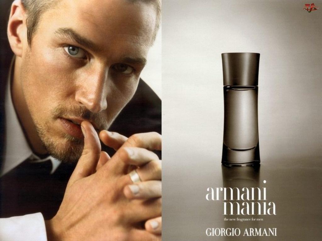 perfumy, Armani, mężczyzna, mania, flakon