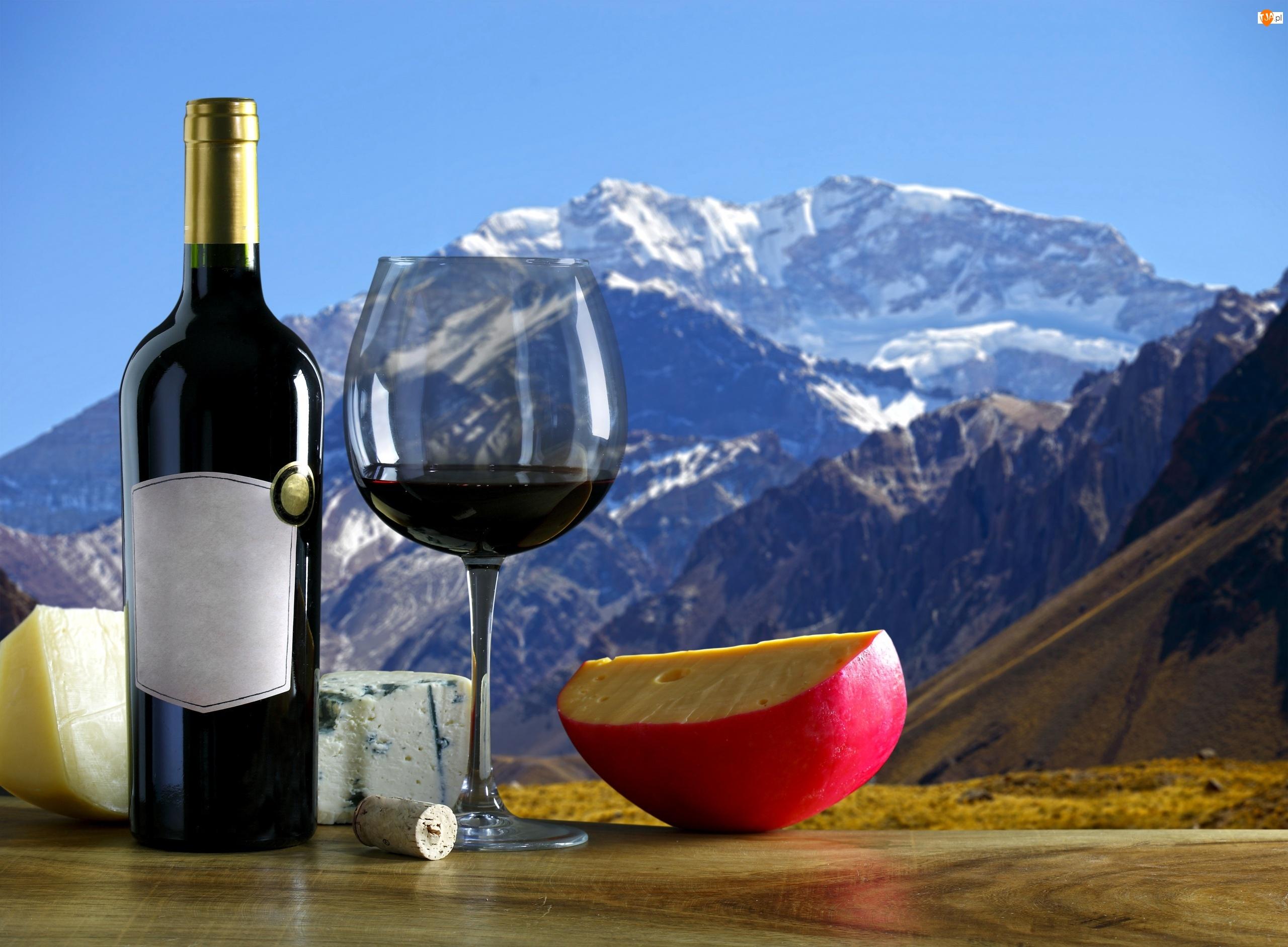 Wino, Góry, Ser, Kieliszek
