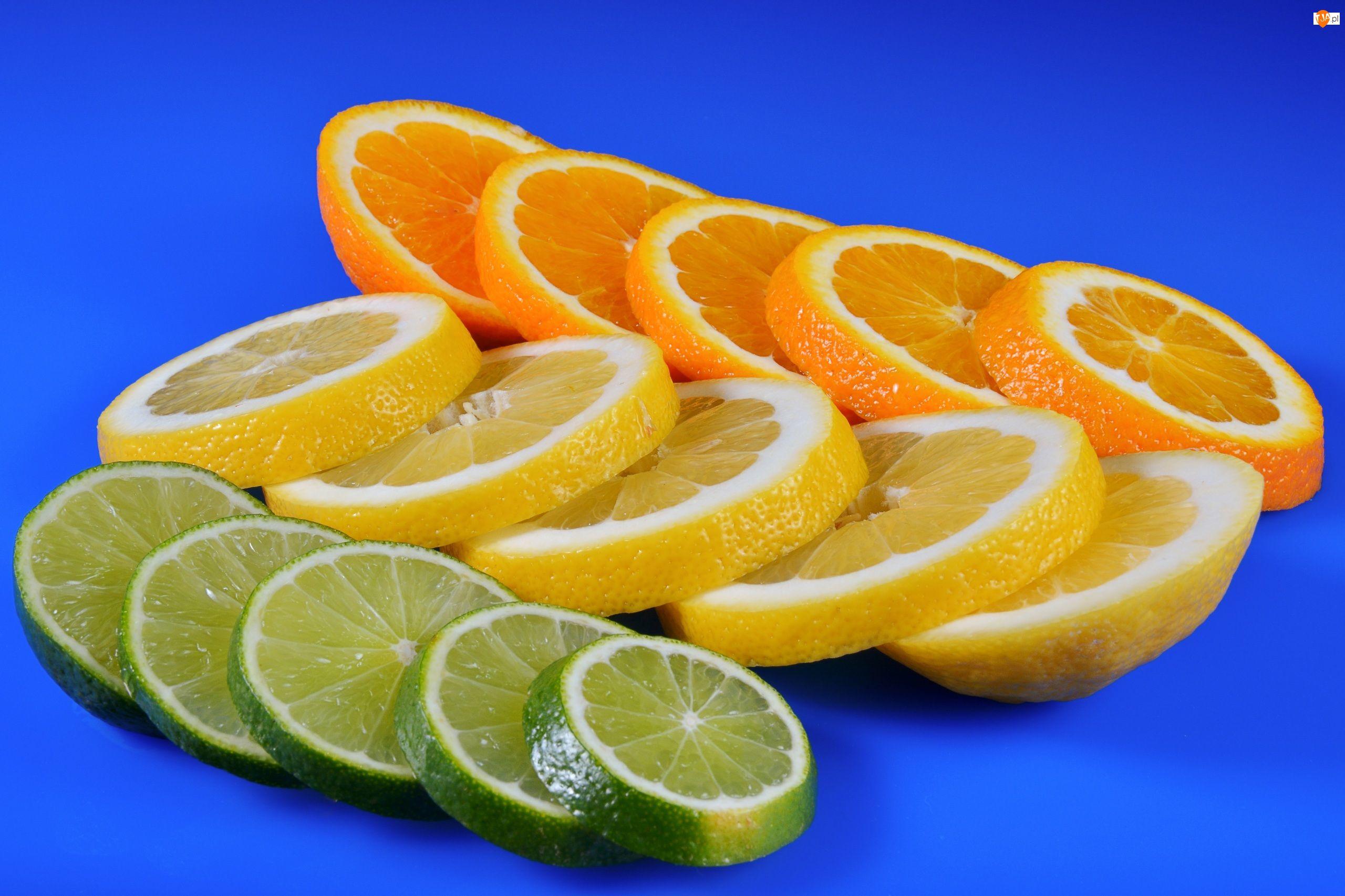 Pomarańcza, Plasterki, Cytryna, Cytrusy, Limonka