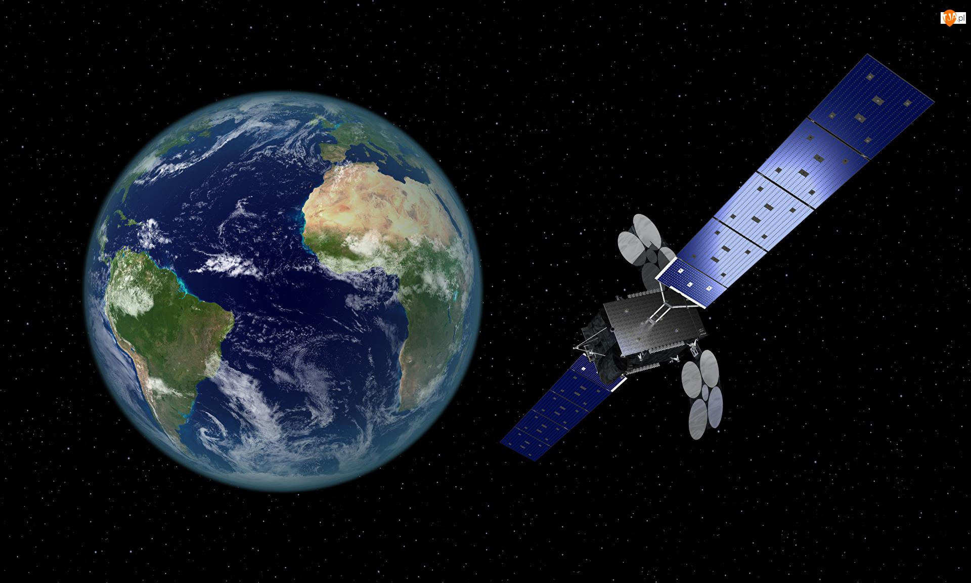 Satelita telekomunikacyjny Al Yah 3, Grafika 3D, Ziemia