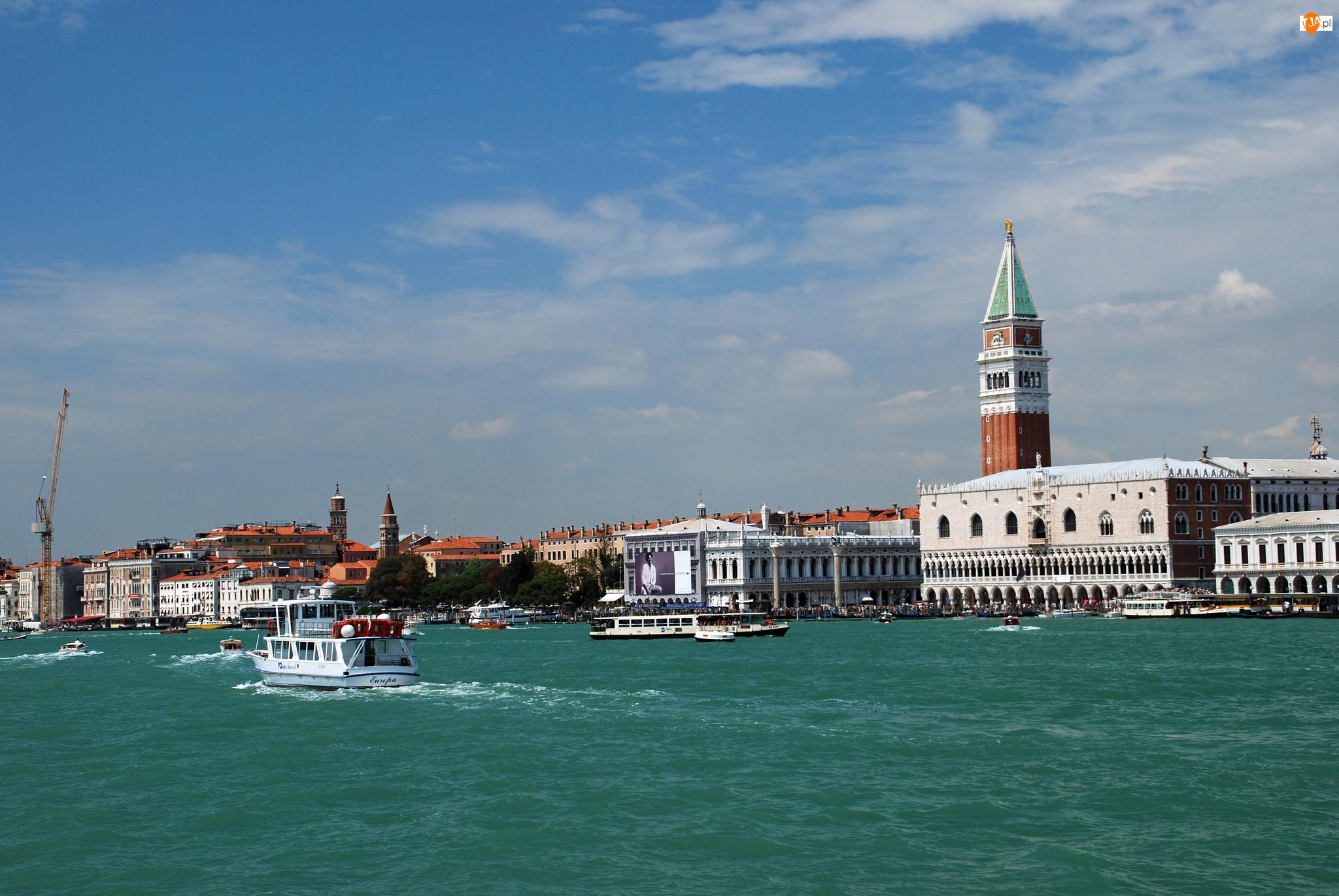 Wenecja, Domy, Włochy, Rzeka