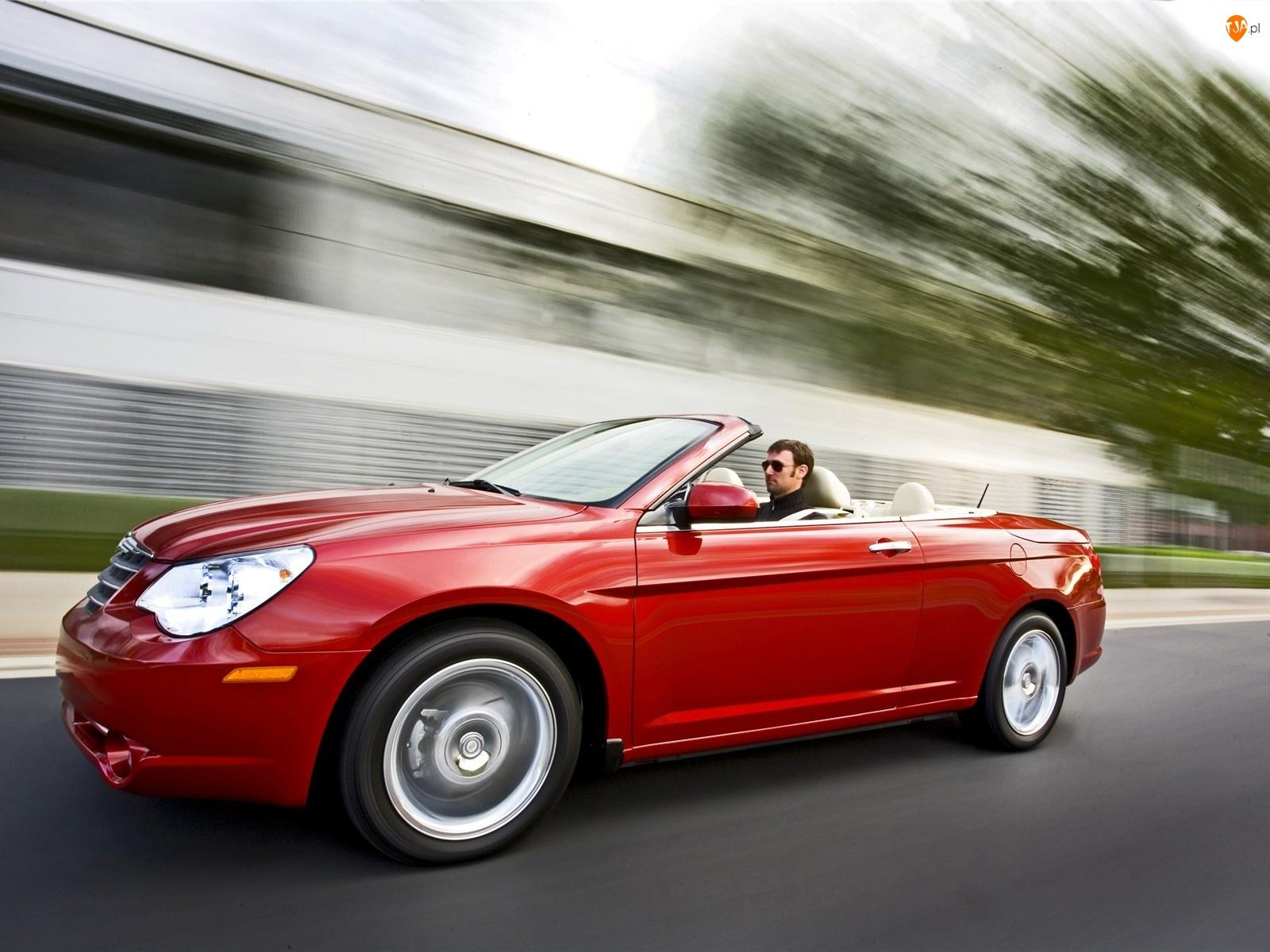 Kierowca, Czerwony, Chrysler Sebring