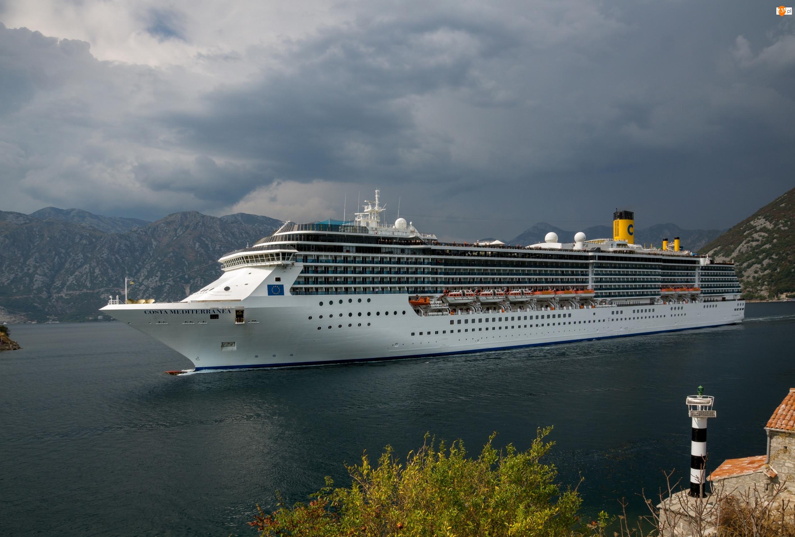 Costa Mediterranea, Włoski, Pasażerski, Statek, Wycieczkowy