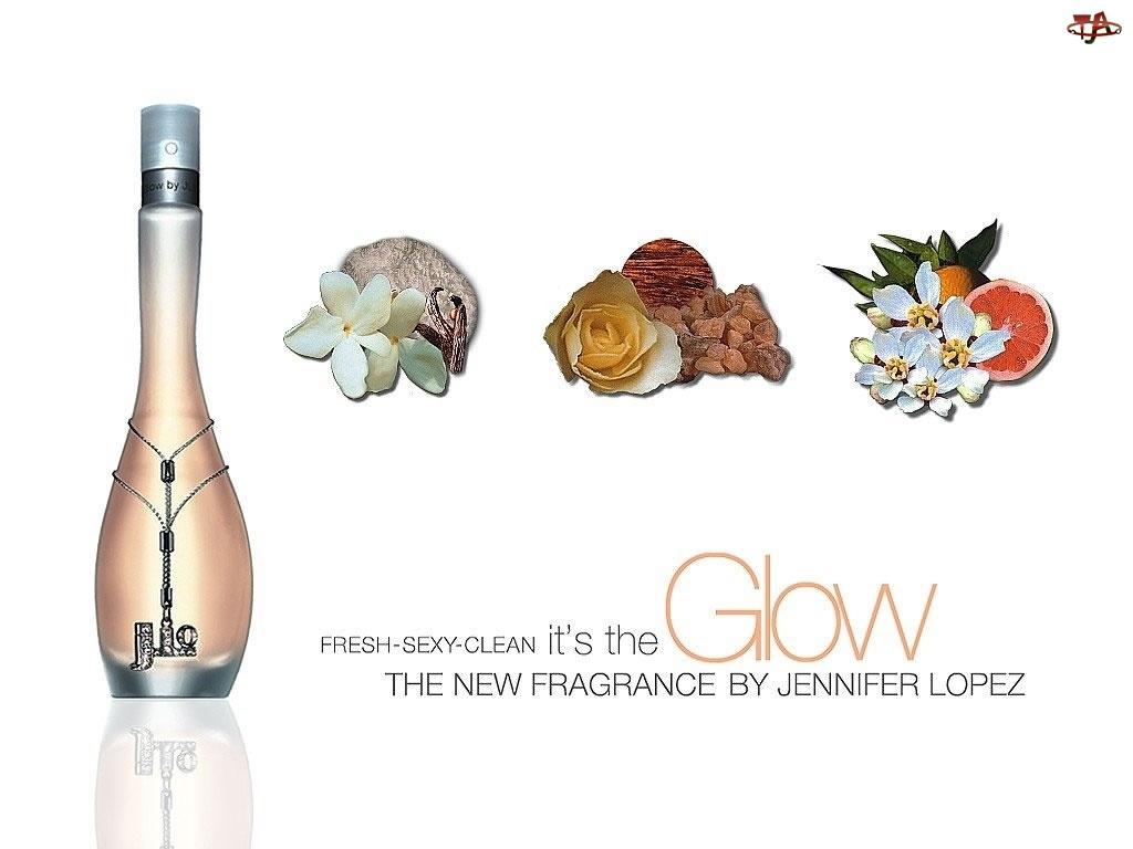 kamienie, flakon, J Lo, perfumy, kwiaty, owoce