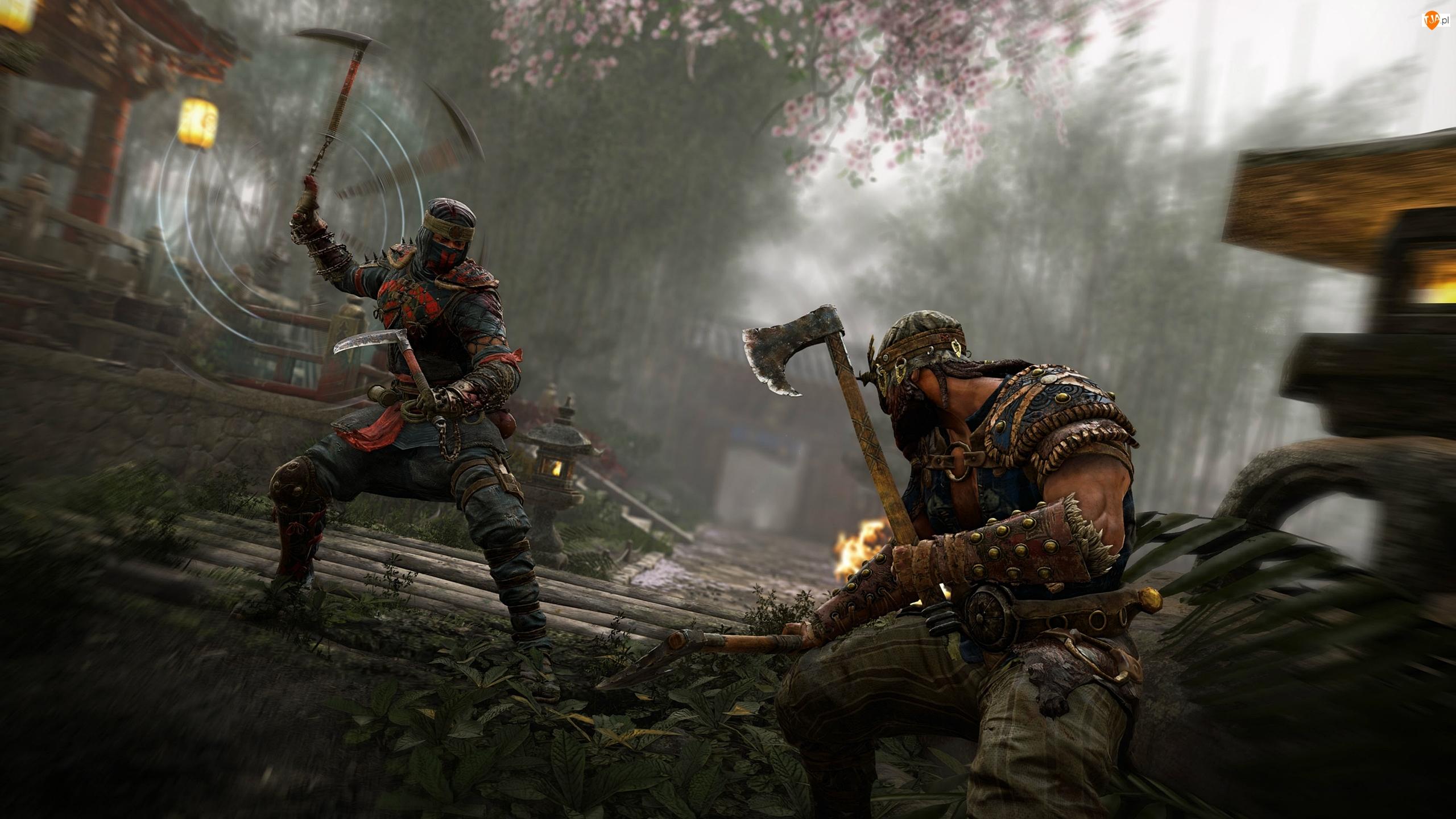 Wiking Berserk, For Honor, Samuraj Shinobi