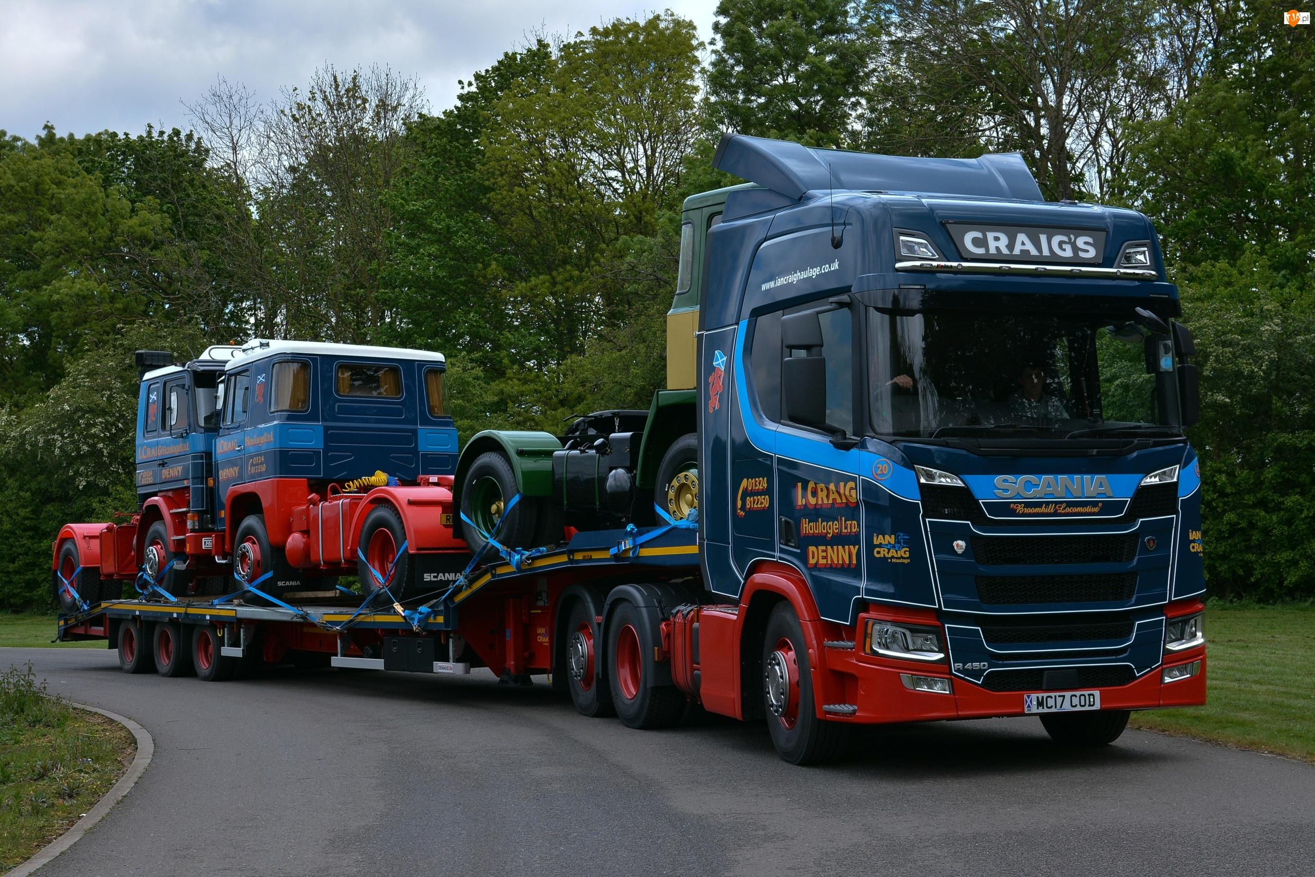 Naczepa, Scania R450, Ciężarówka