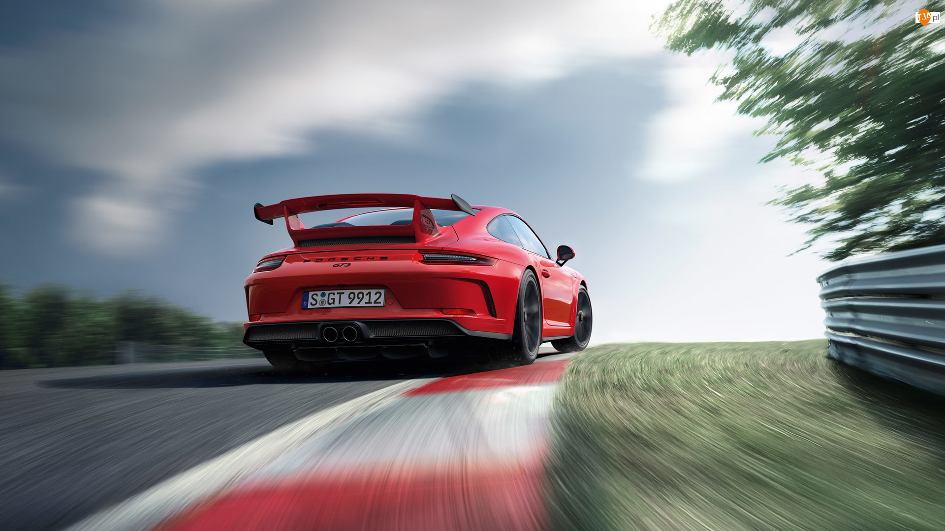 2018, Czerwone, Porsche 911 GT3