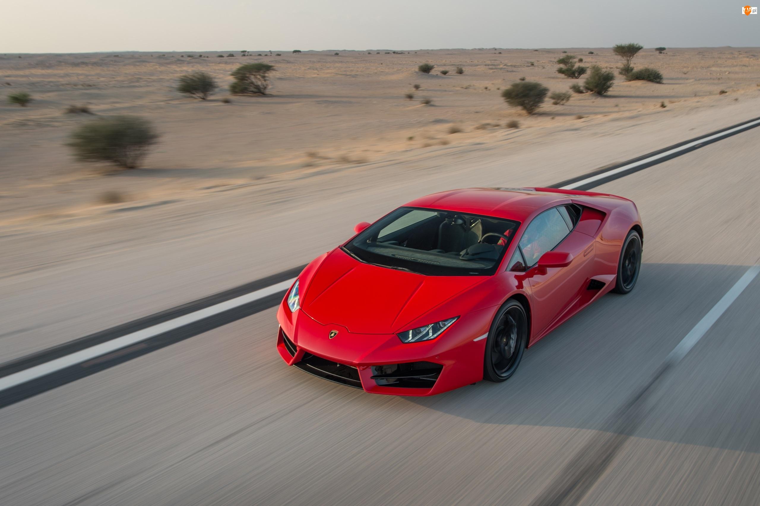 2016, Czerwone, Lamborghini Huracan LP 580-2