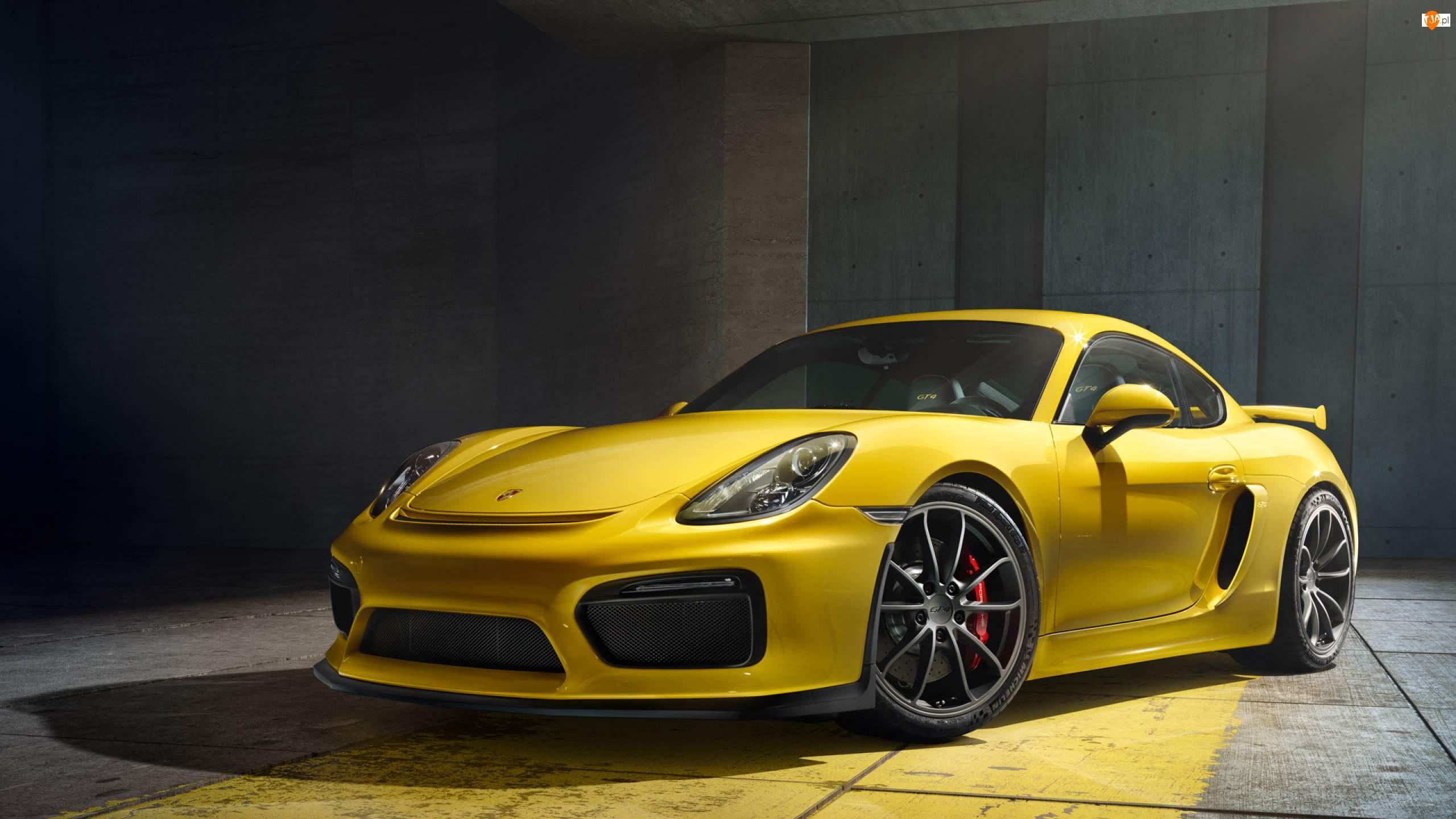 2015, Żółte, Porsche Cayman GT4