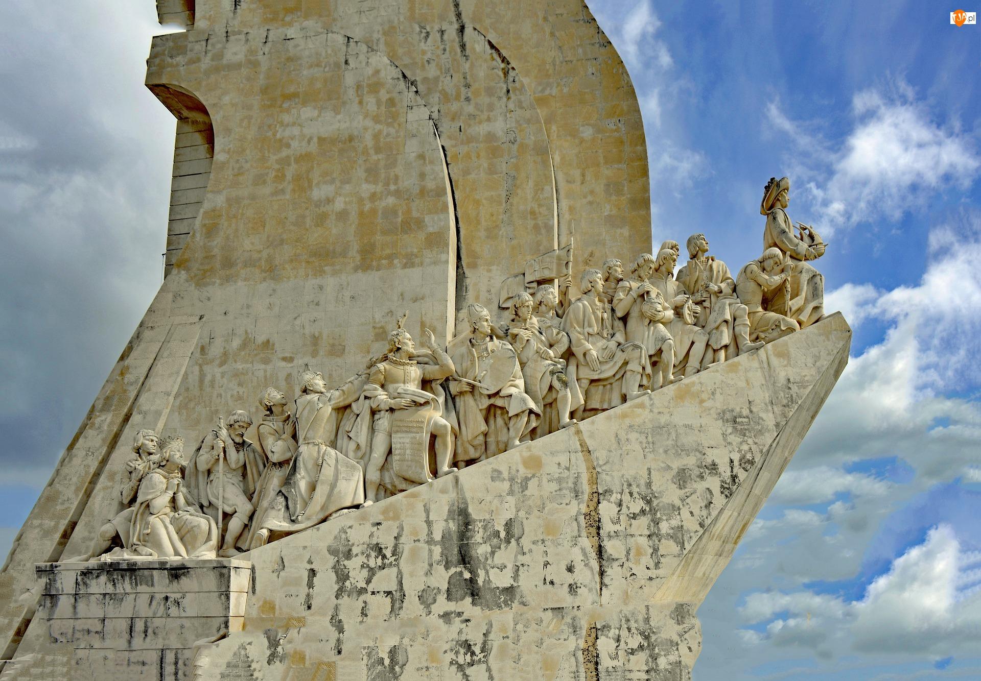 Portugalia, Rzeźba, Lizbona, Pomnik Odkrywców