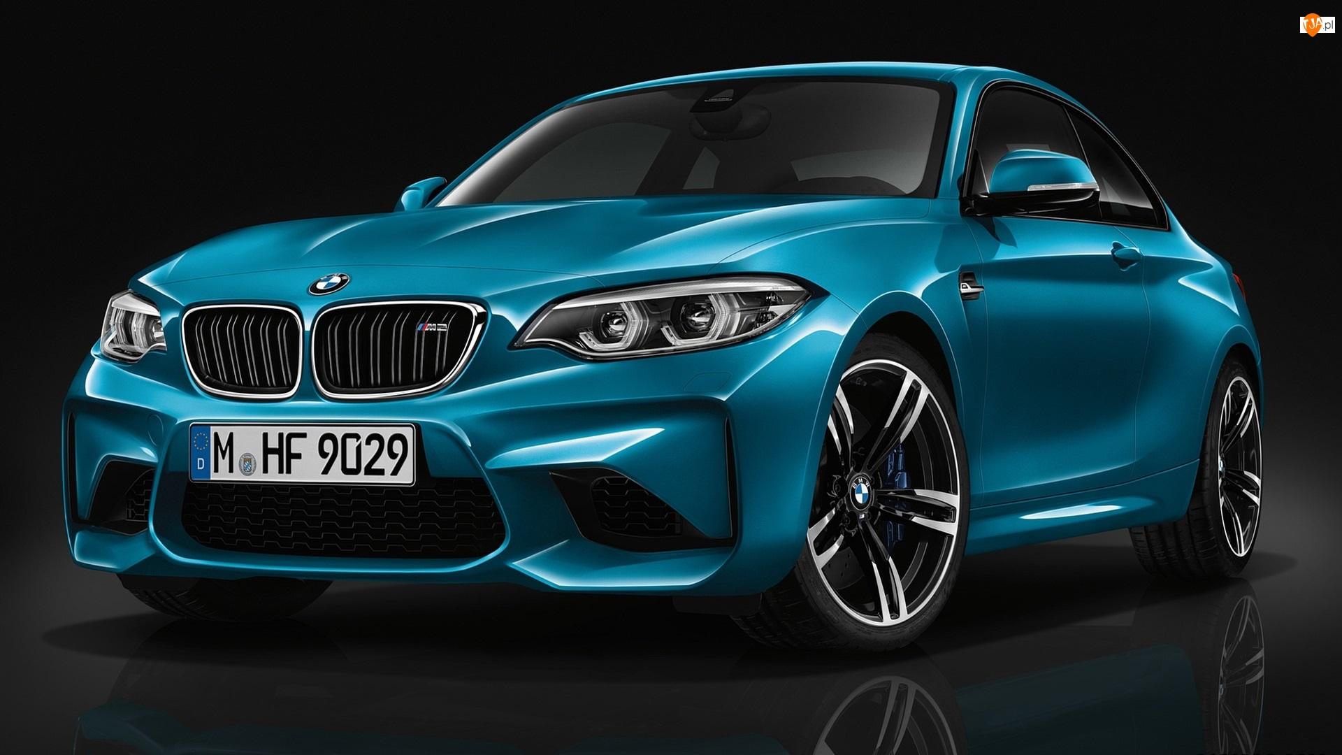 2016, Niebieskie, BMW M2 Coupe Long Beach Blue Metallic