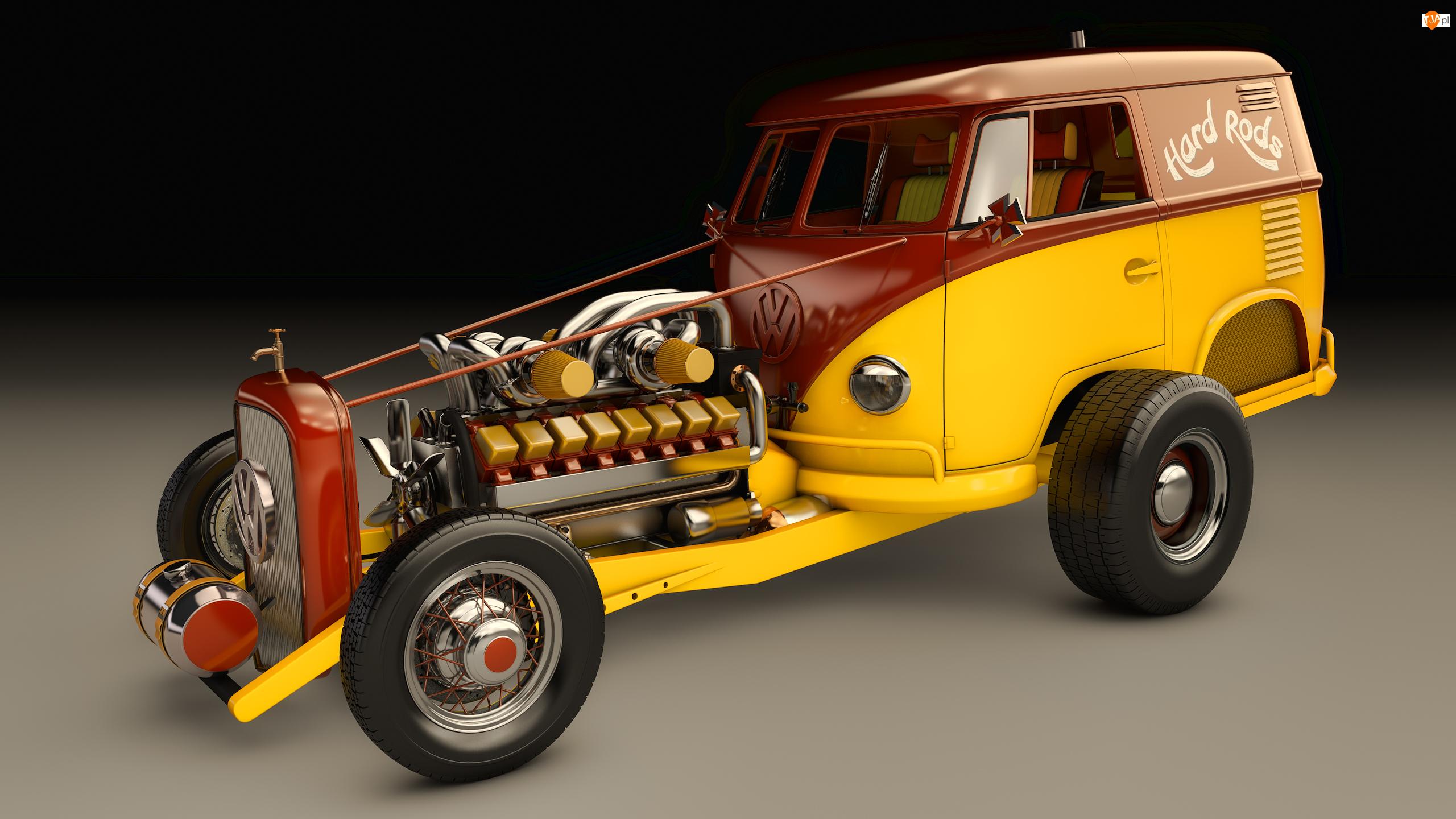 1950, Zabytkowy, Volkswagen T1 Rod Type 2