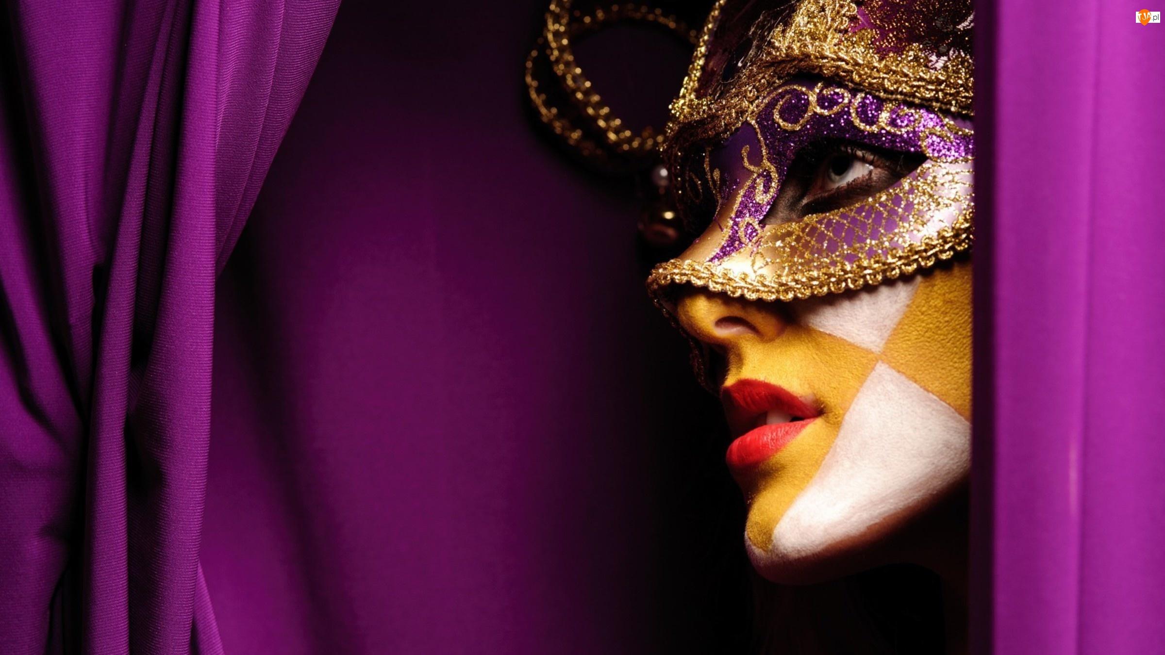 Kobieta, Karnawał, Maska, Sylwester