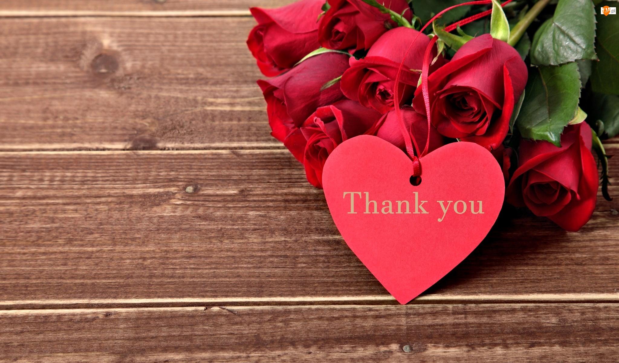 Serce, Podziękowanie, Róże