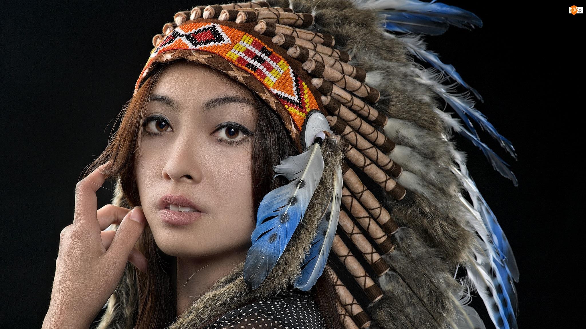 Pióropusz, Kobieta, Indianka