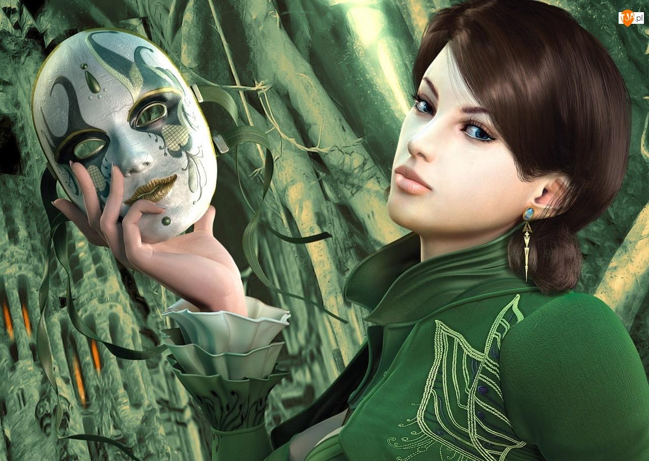 Maska, Kobieta, Dłoń