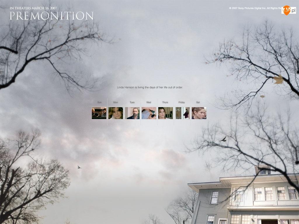 niebo, Premonition, dom, zdjęcia, drzewa