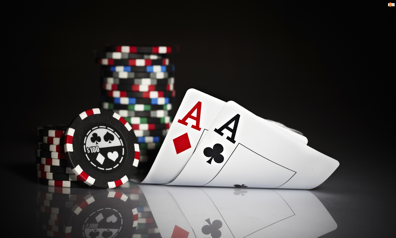 Poker, Gra karciana, Karty, Żetony
