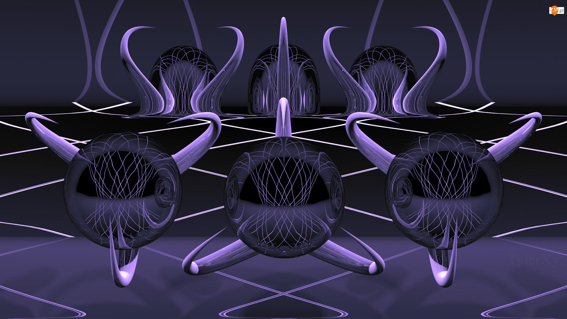 Fioletowa, Grafika 3D
