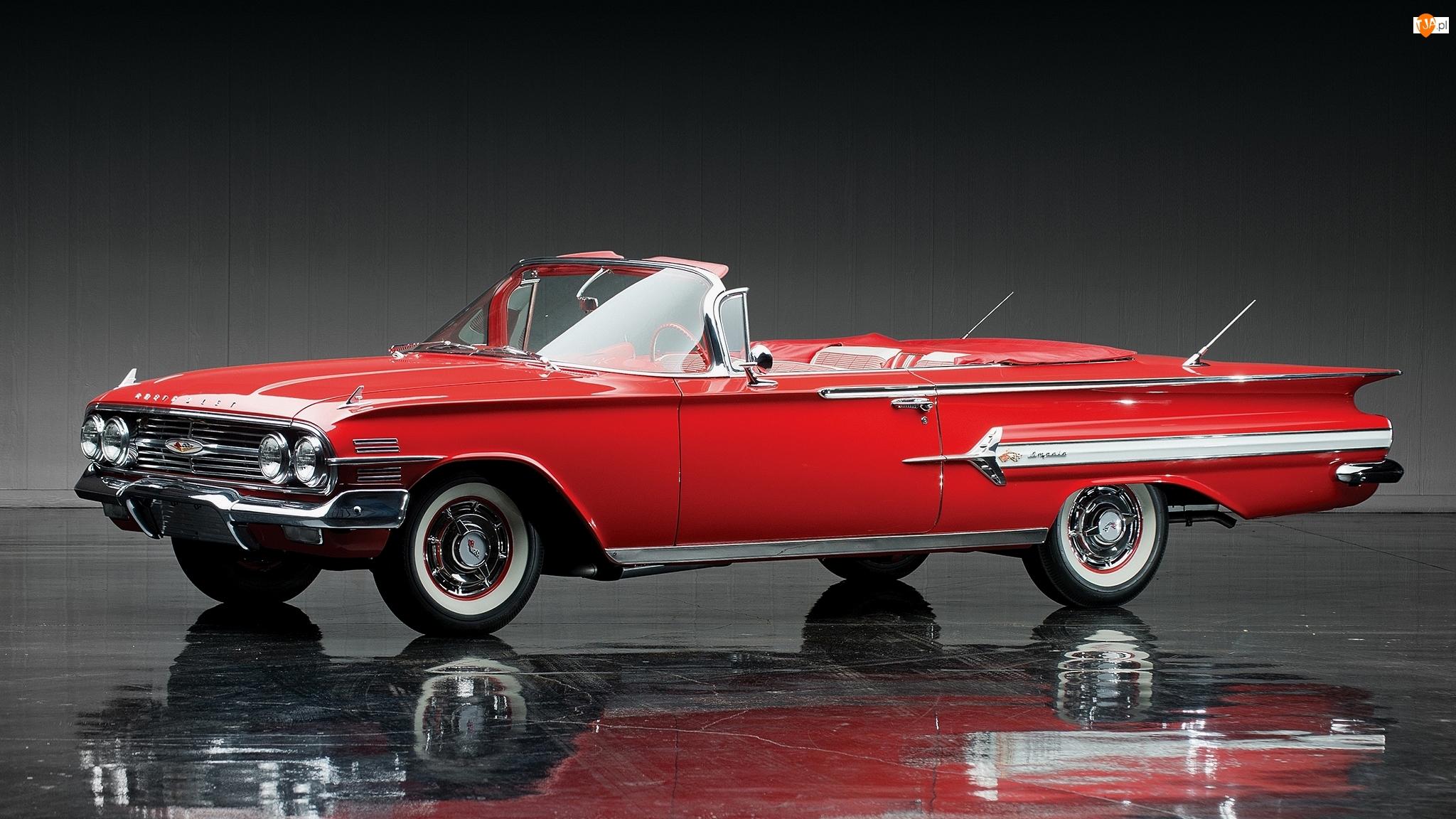 1960, Czerwony, Chevrolet Impala
