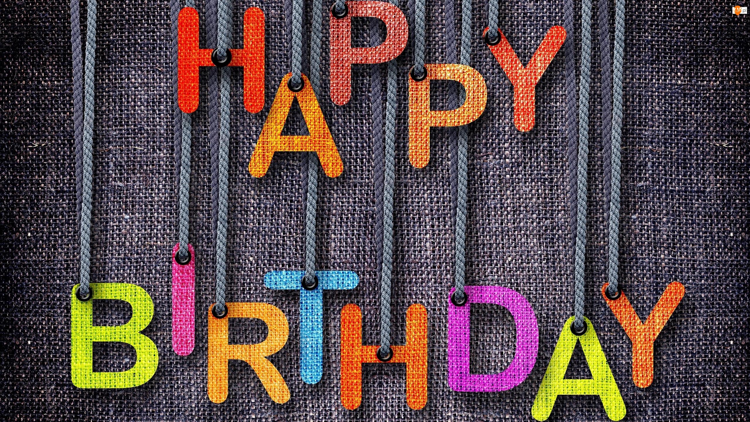 Napis, Urodziny, Życzenia