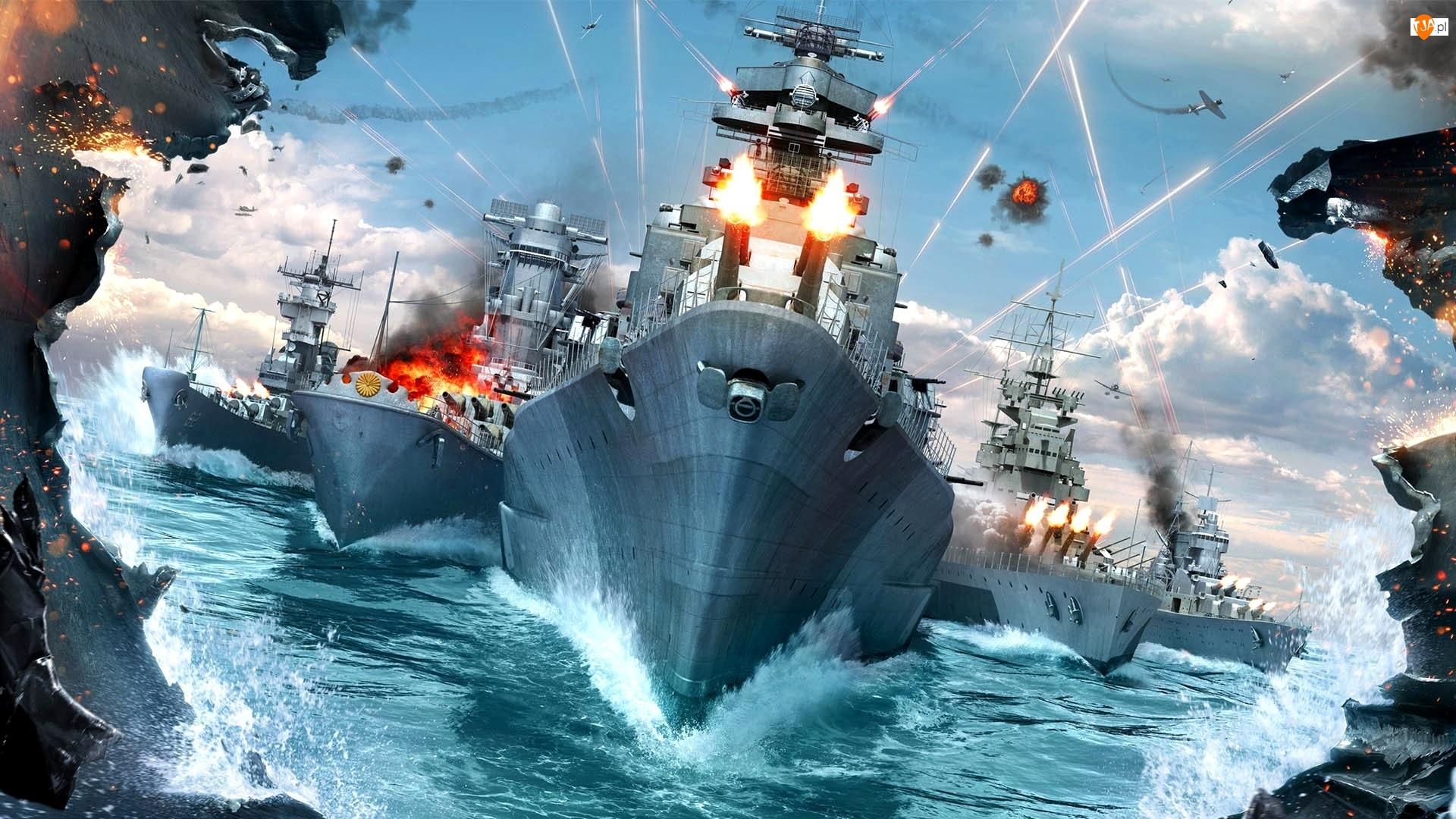 World of Warships, Wojenne, Morze, Okręty