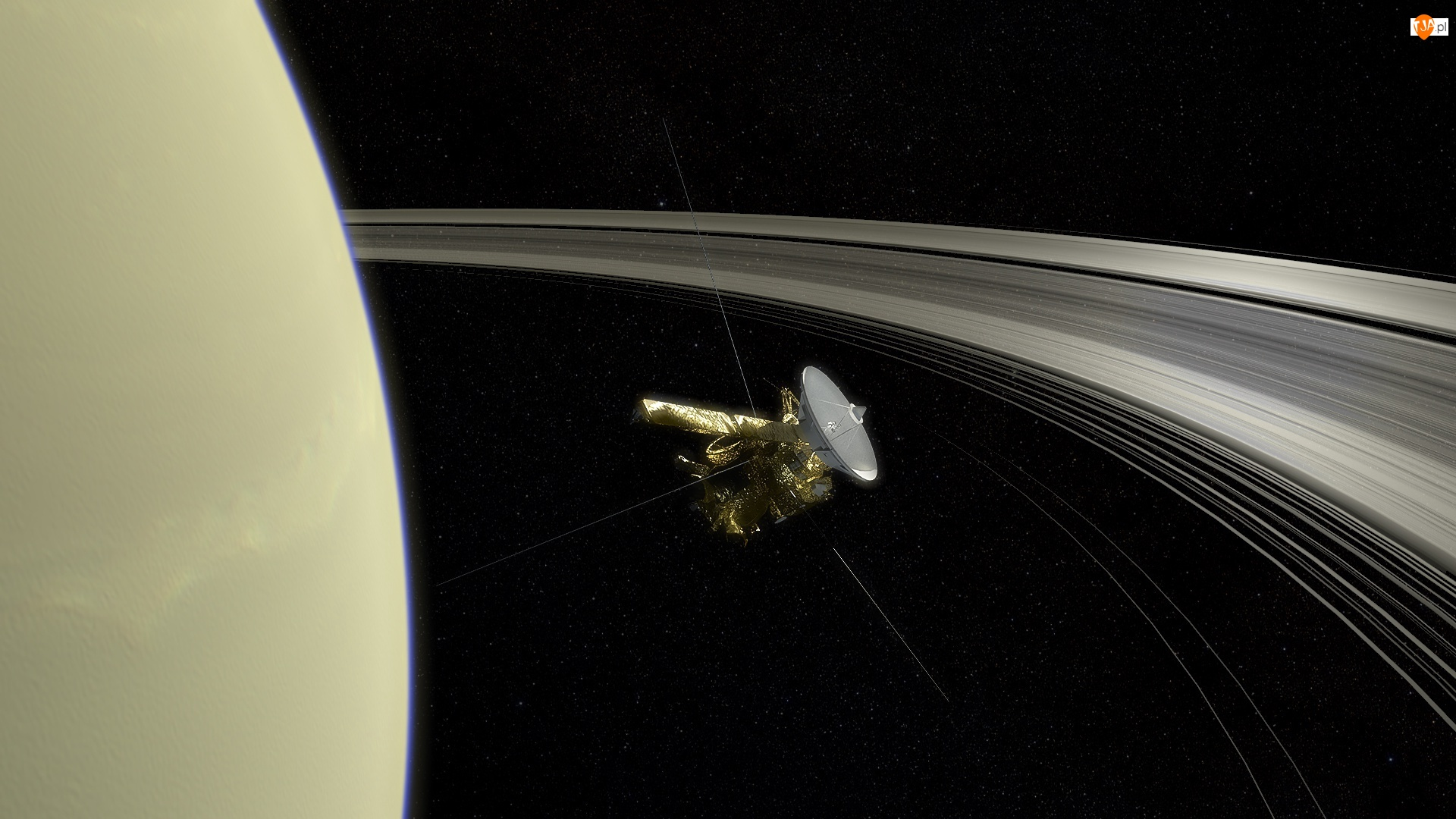 Satelita Cassini, Kosmos, Planeta, Saturn