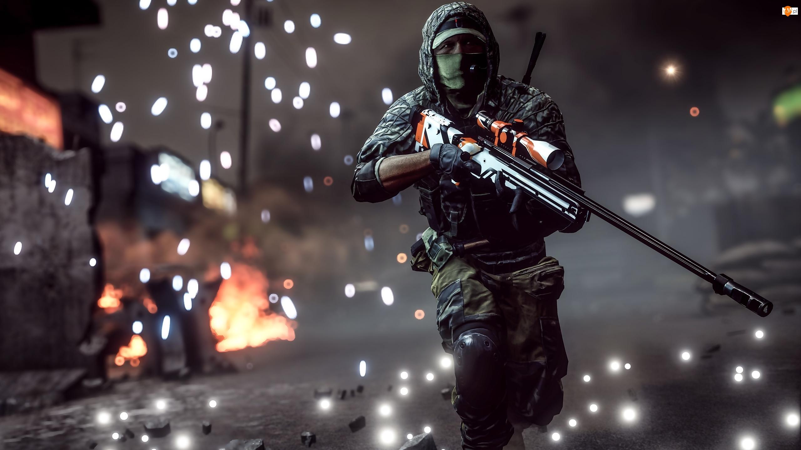 Gra, Snajper, Battlefield 4, Żołnierz
