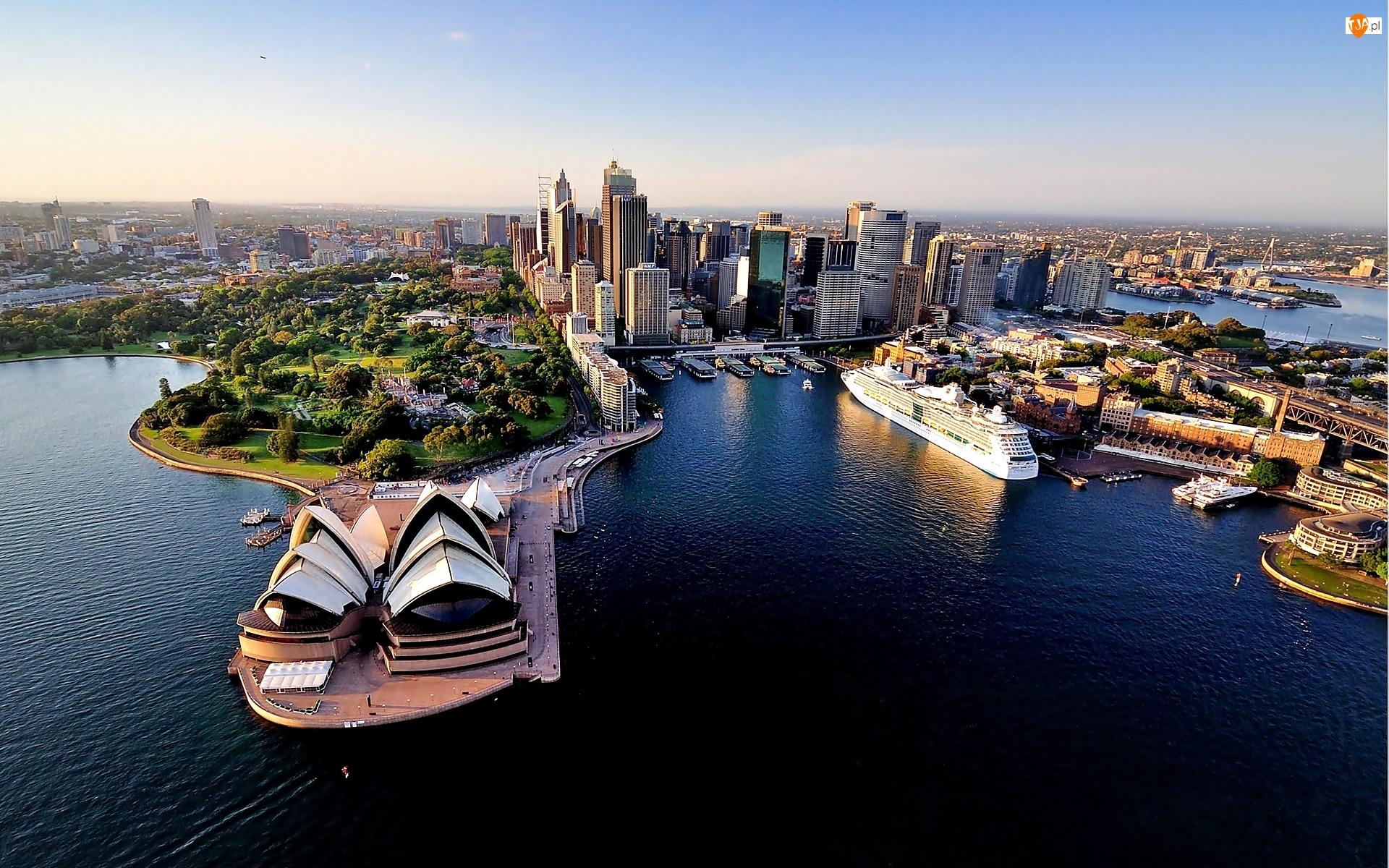 Australia, Z lotu ptaka, Sydney, Sydney Opera House