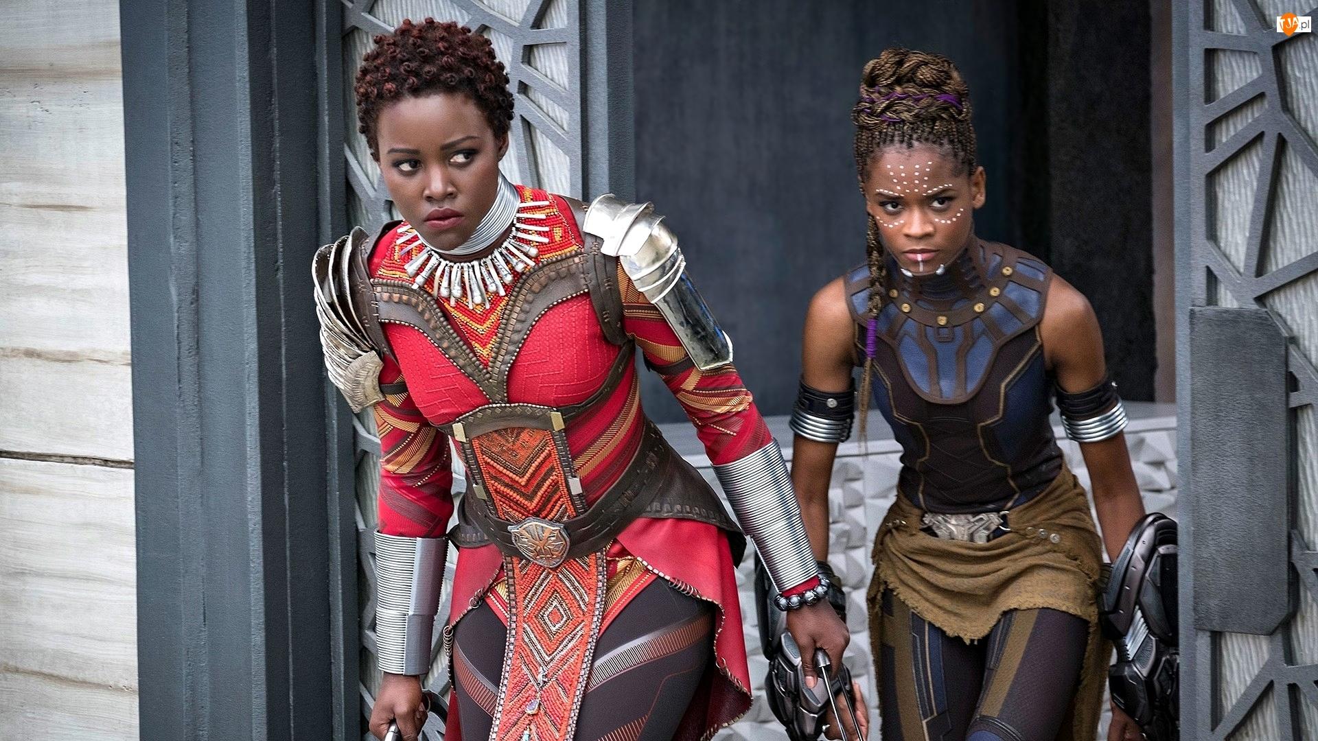 Letitia Wright - Shuri, Film, Czarna pantera, Black Panther, Lupita Nyongo - Nakia