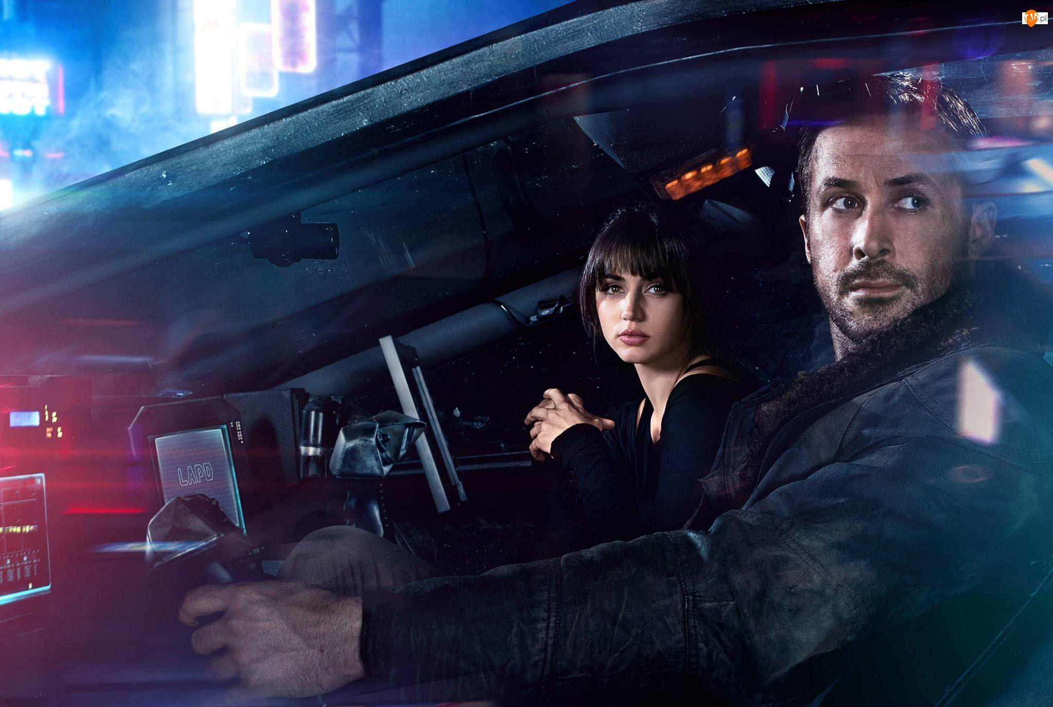 Ana de Armas, Ryan Gosling, Blade Runner 2049, Officer K, Łowca androidów 2049, Joi