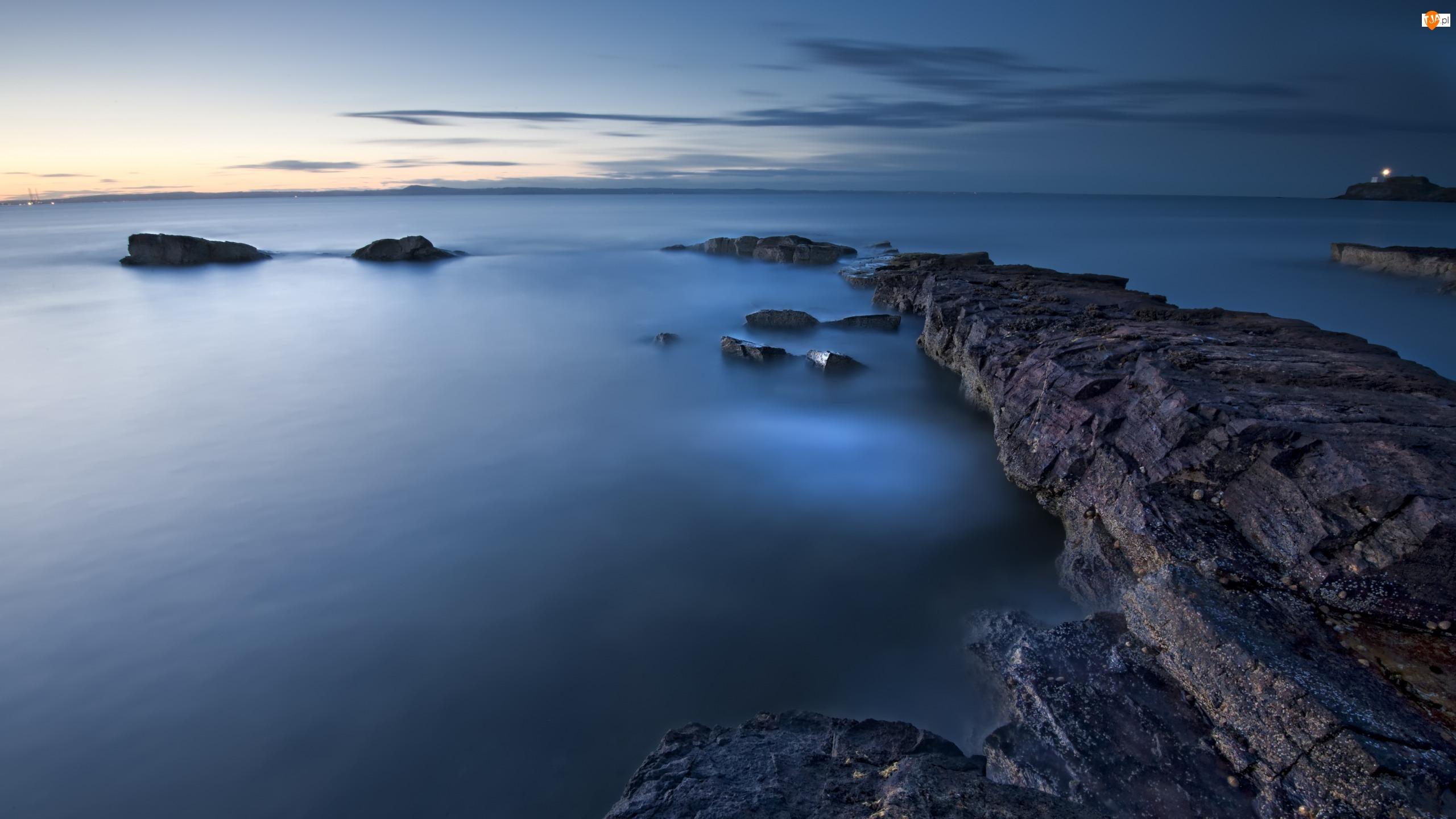 Morze, Wybrzeże, Skały, Horyzont