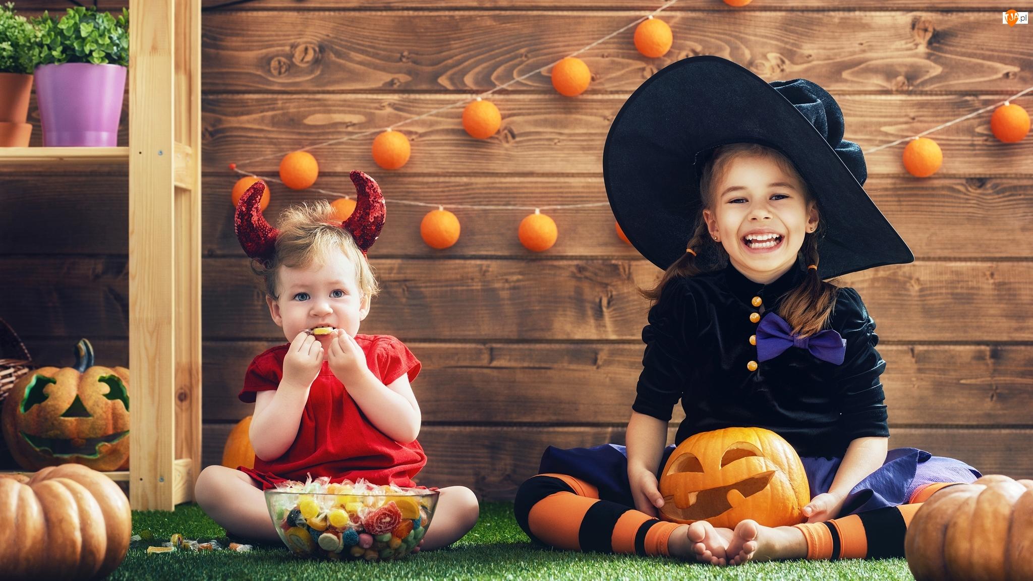 Dynie, Halloween, Dziewczynki, Dzieci, Kostiumy