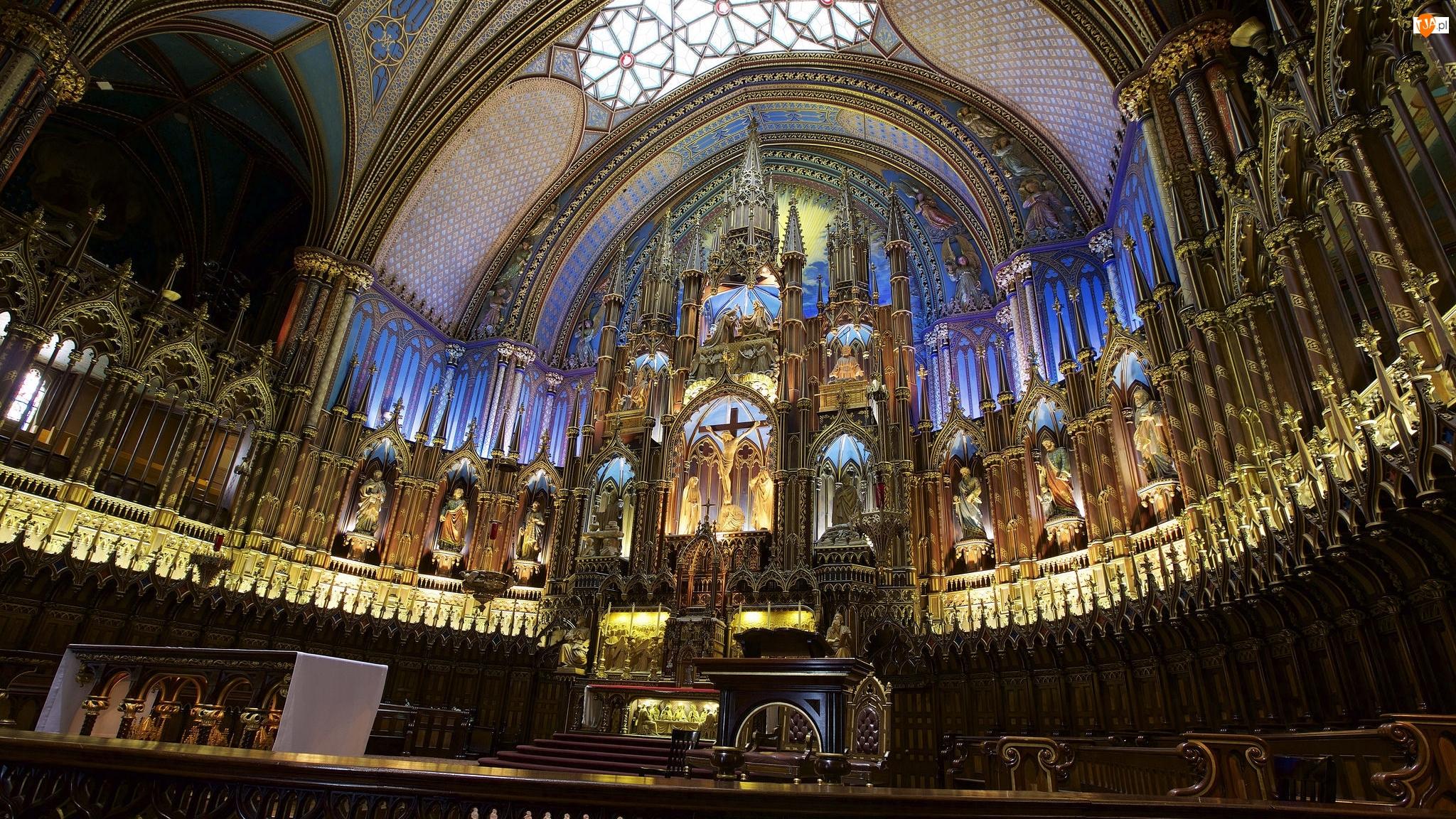 Ołtarz, Kanada, Bazylika Notre-Dame, Montreal, Kościół