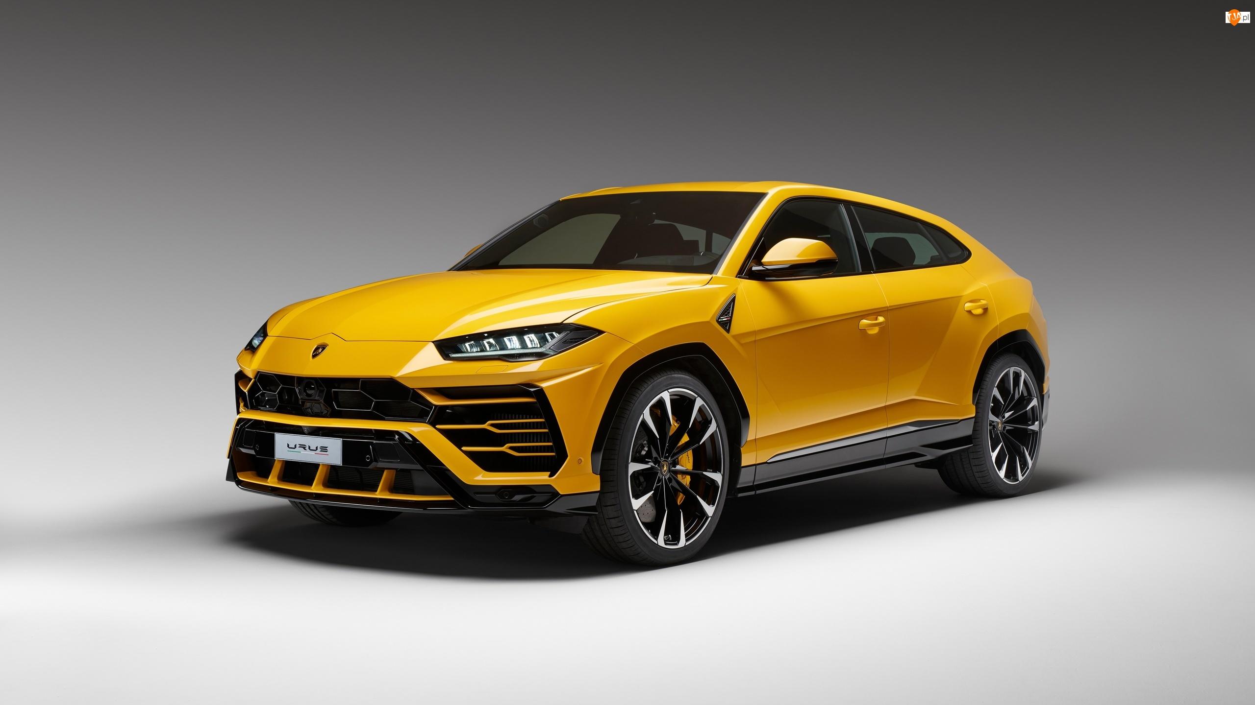 2018, Żółte, Lamborghini Urus, SUV