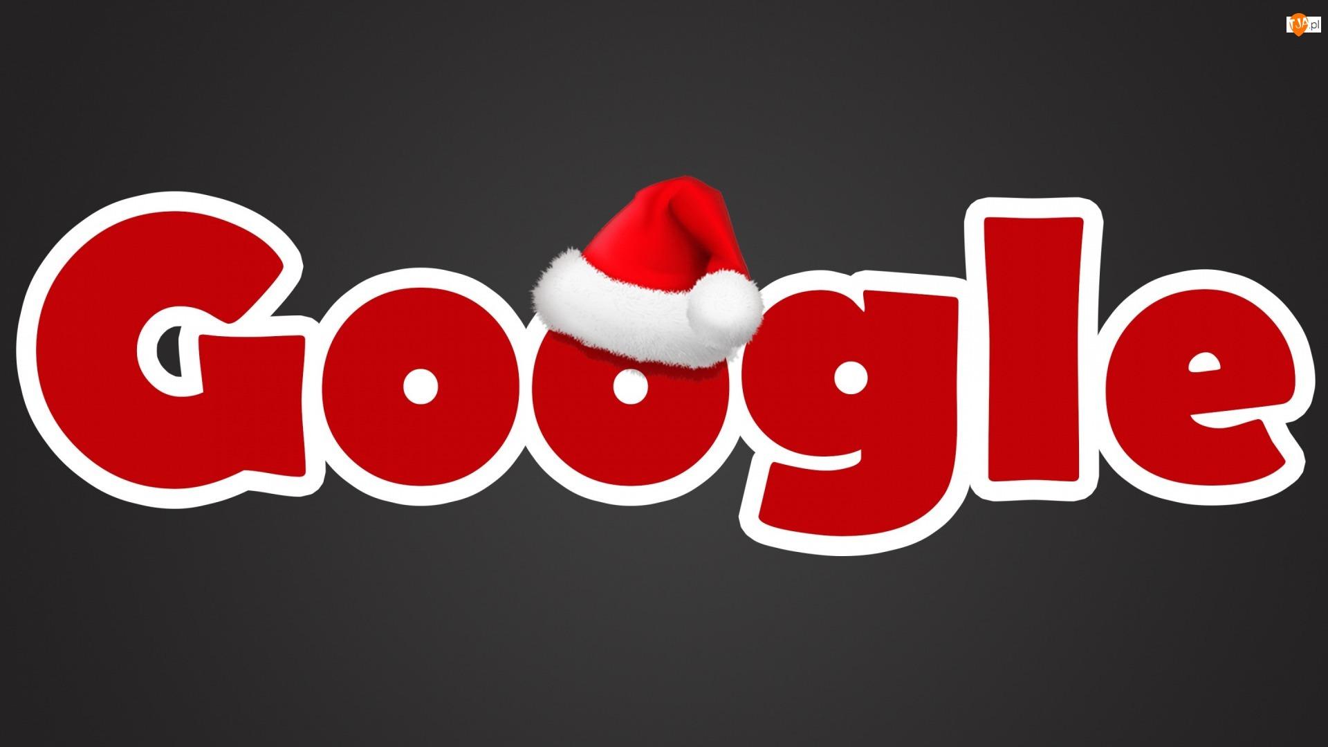 Wyszukiwarka, Mikołaja, Google, Czapeczka