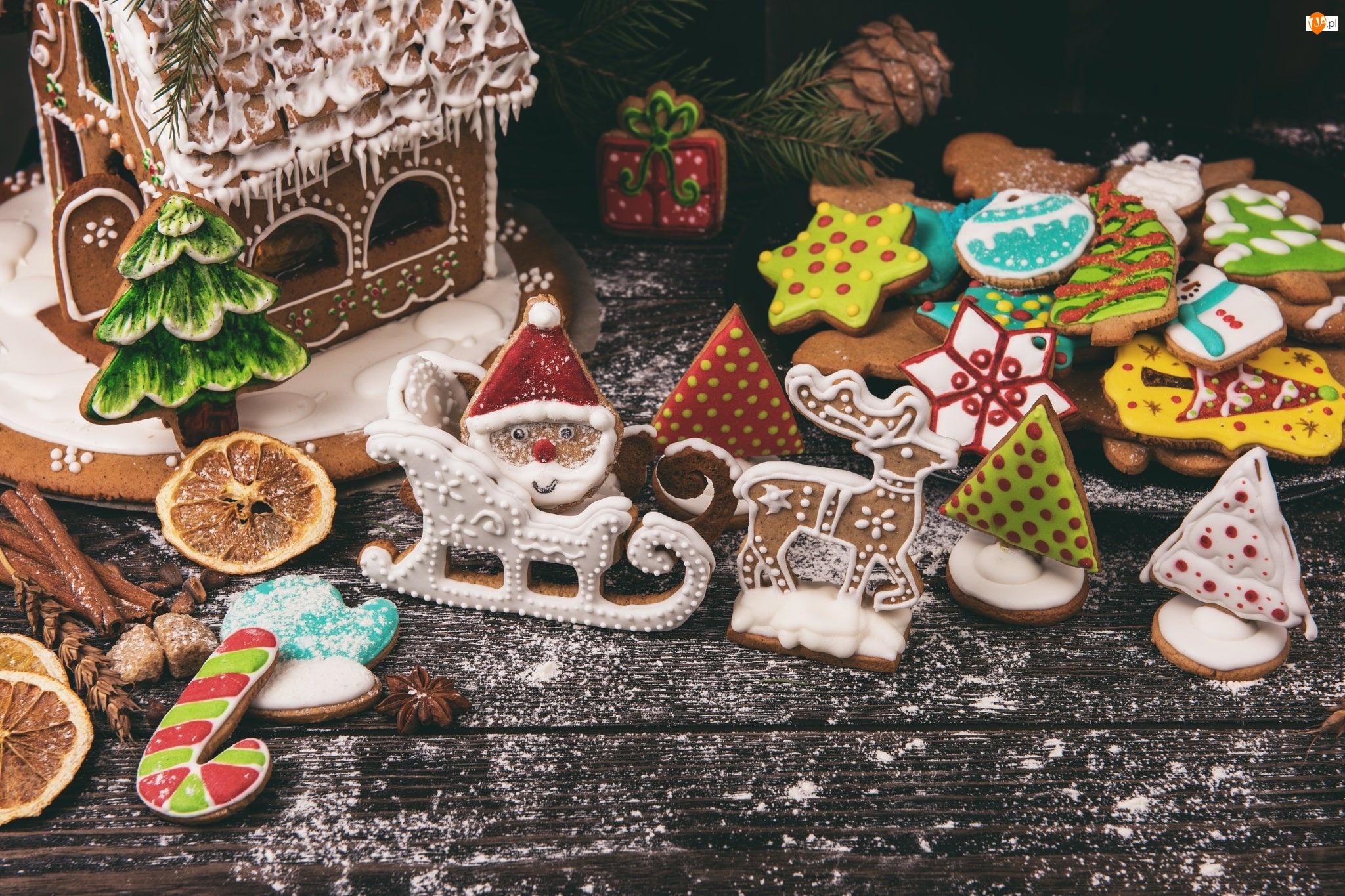 Domek, Kompozycja, Ciasteczka, Pierniki, Świąteczne