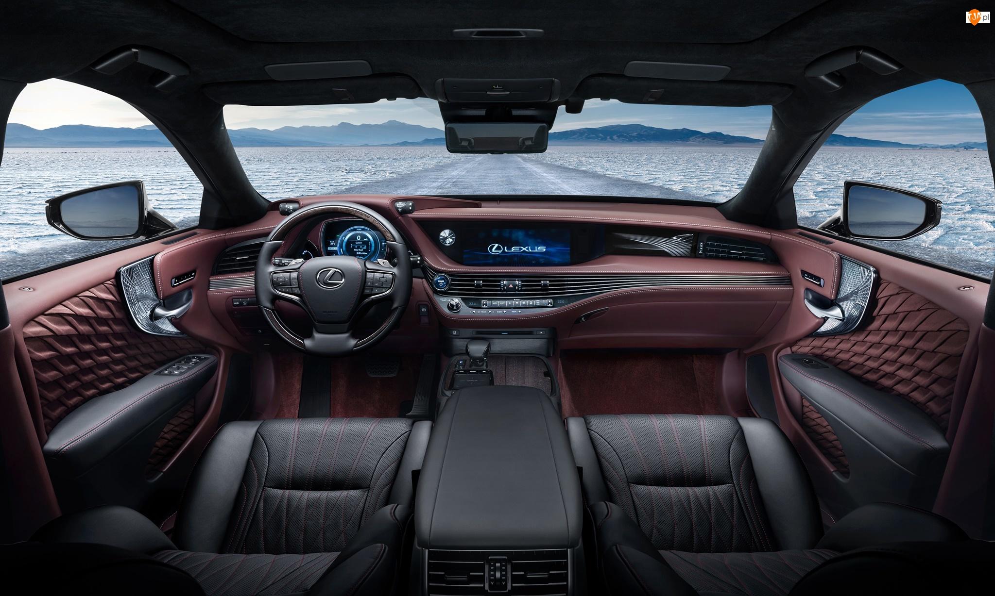 Wnętrze, Lexus LS 500h, 2017