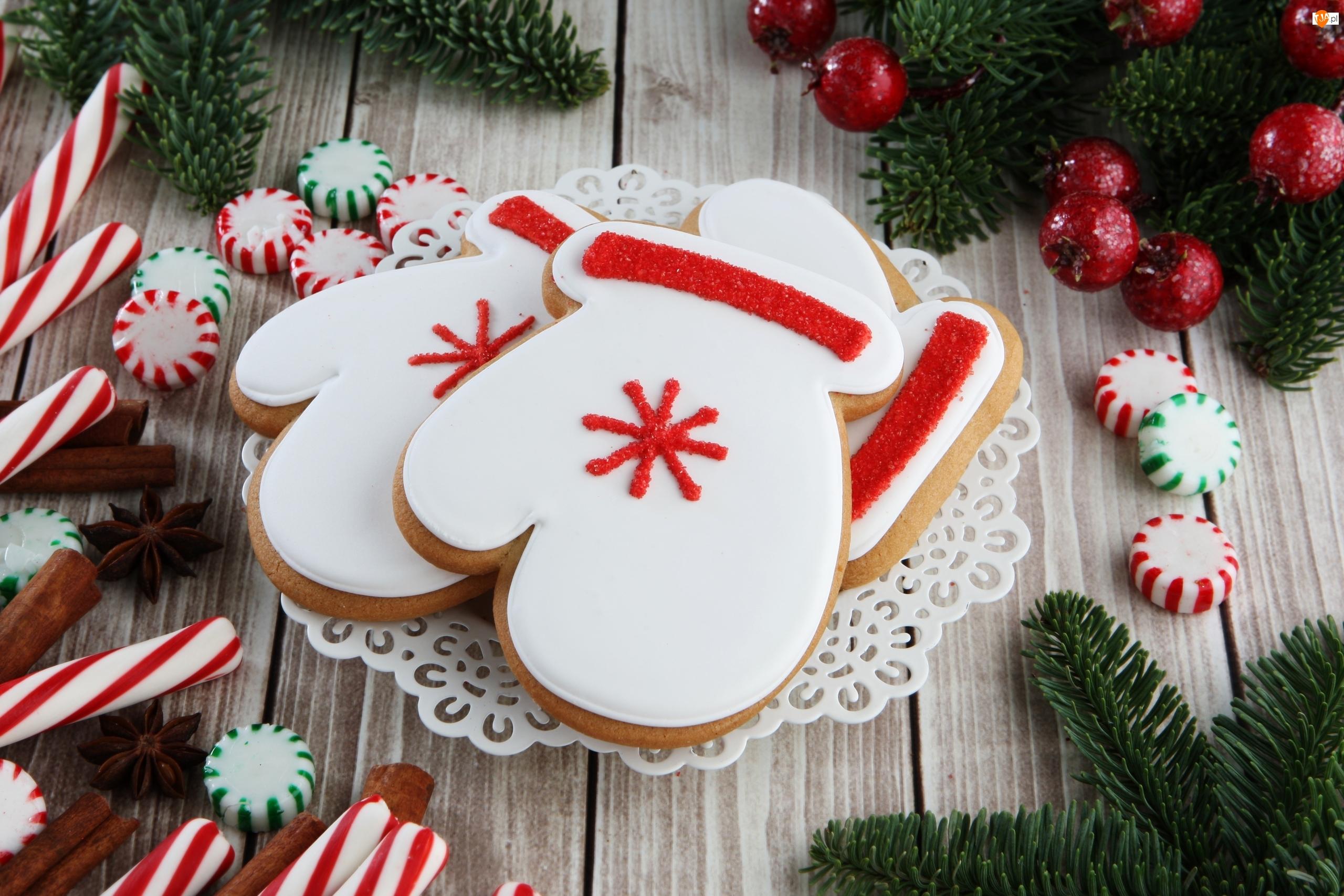 Kompozycja, Świąteczne, Pierniki, Cukierki