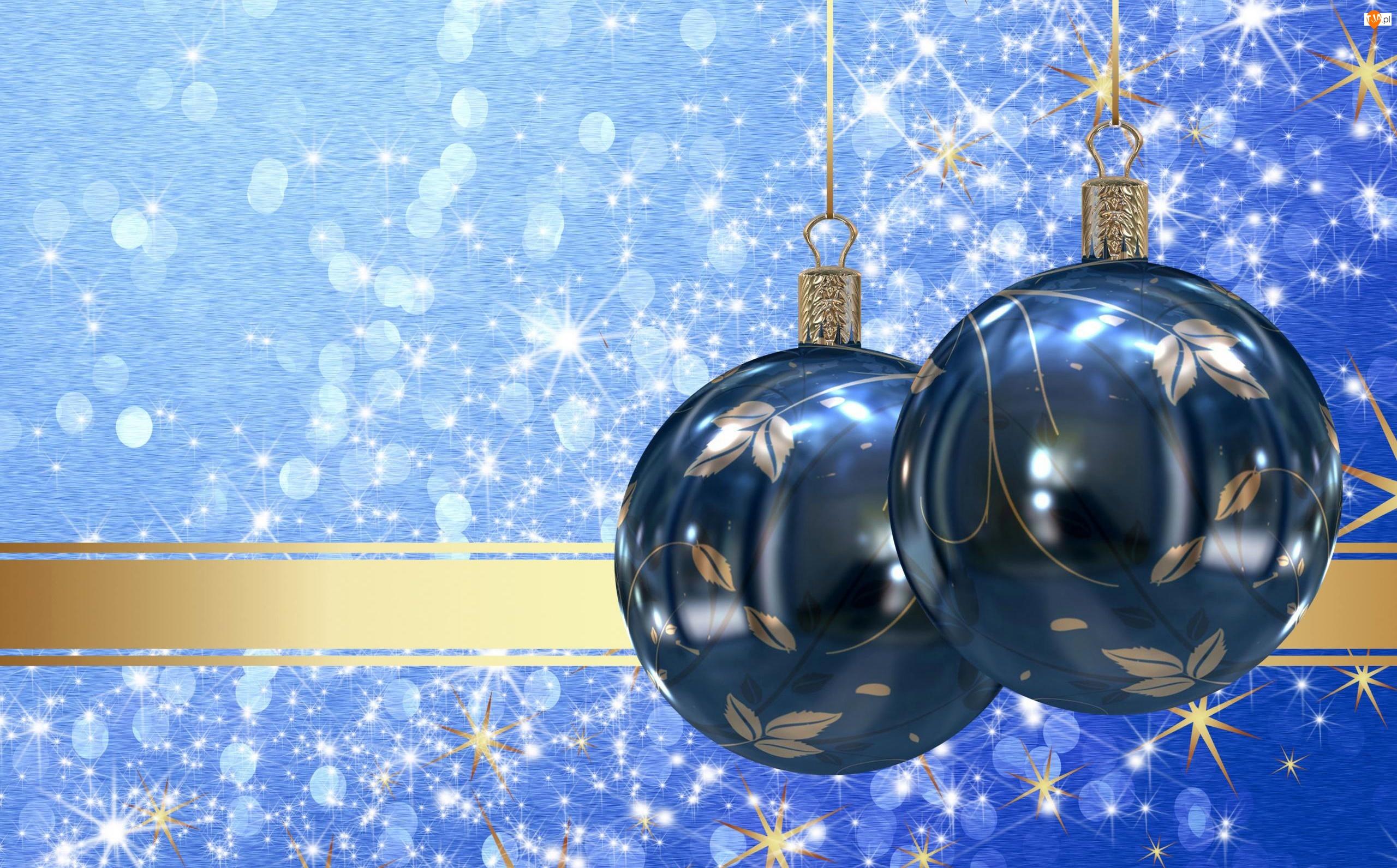 Gwiazdki, Boże Narodzenie, Dekoracja, Grafika, Bombki, Święta